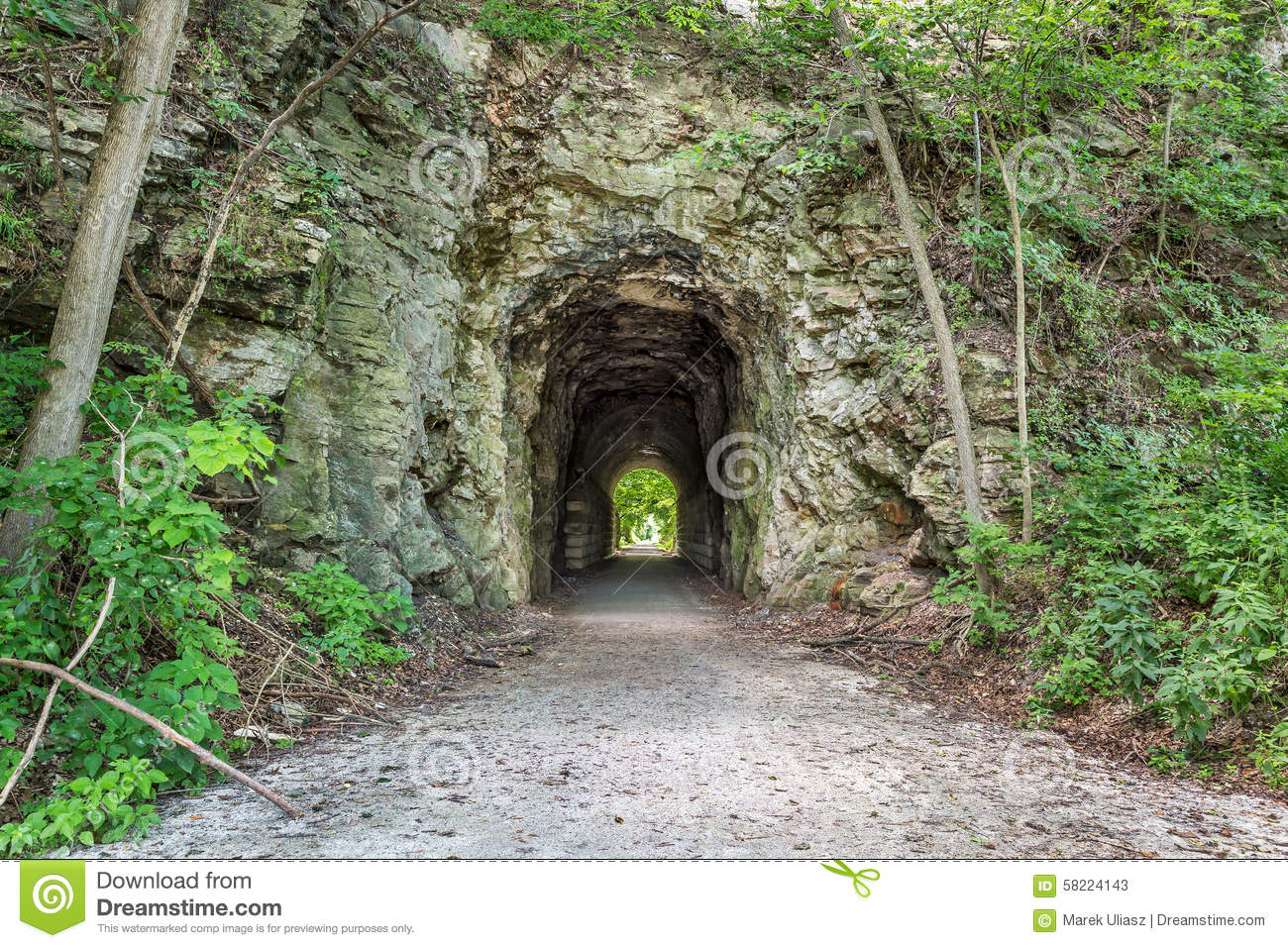 Katy Trail Tunnel Stock Image Image Of Tunnel Missouri 58224143