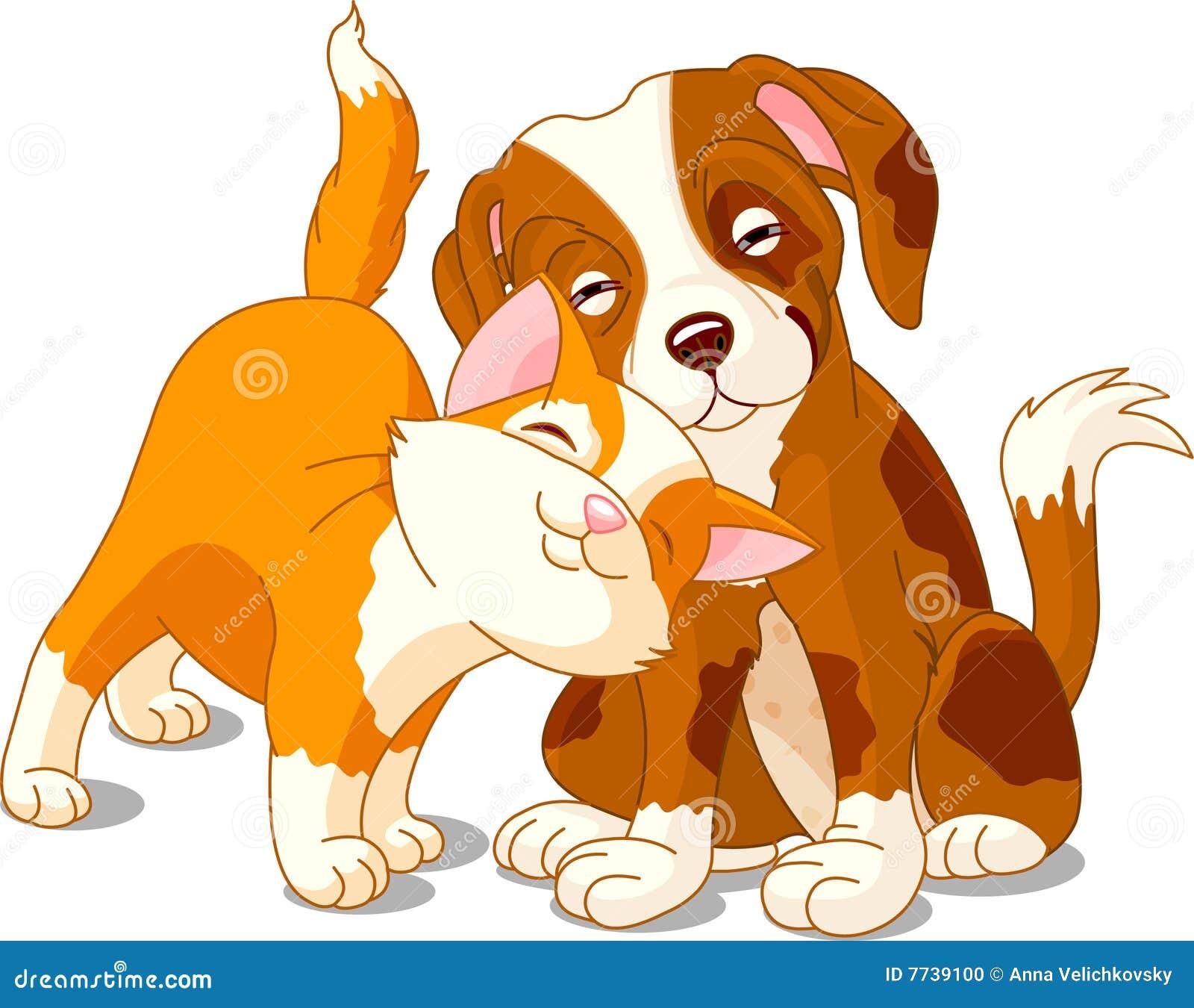 katze und hund vektor abbildung illustration von