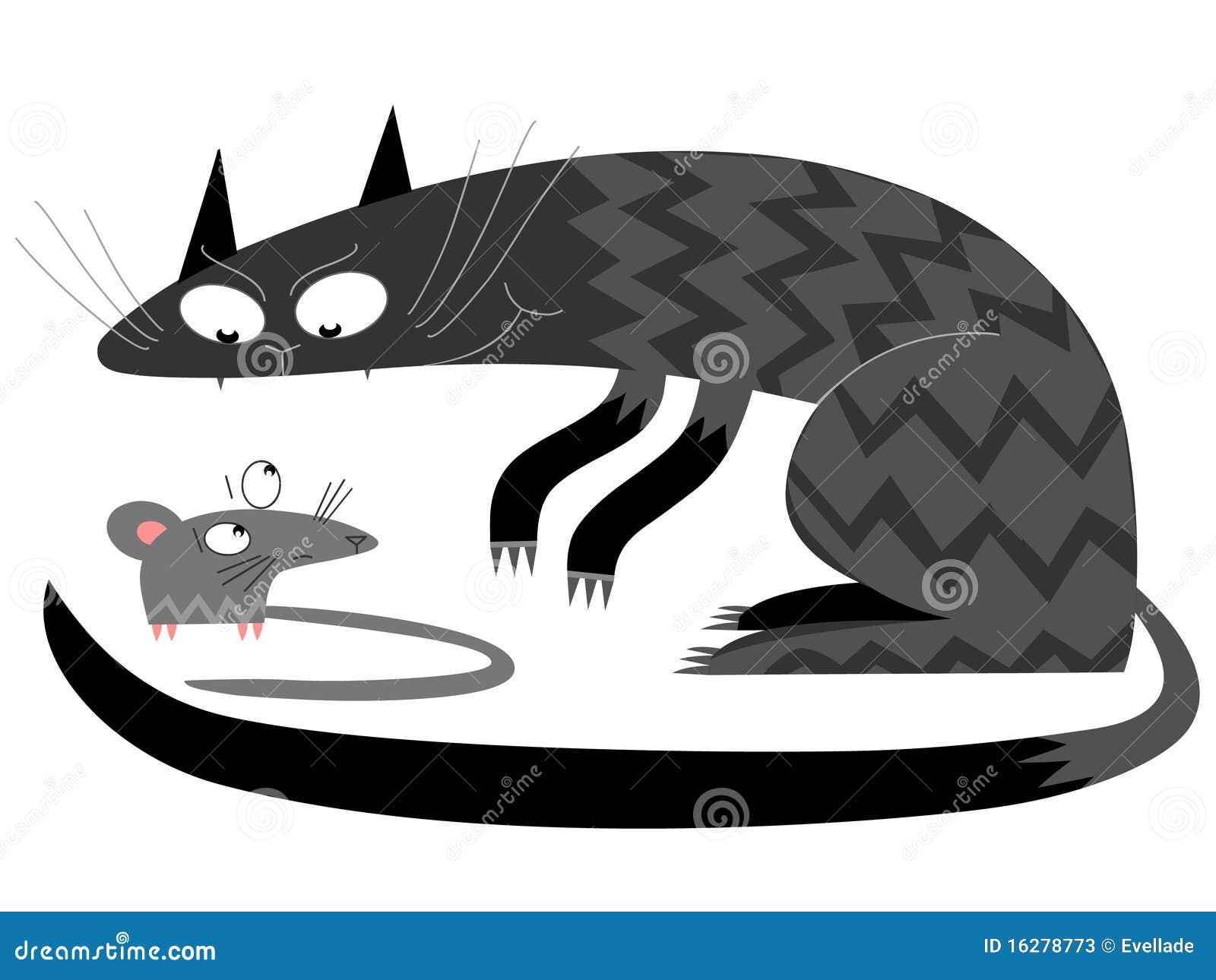 katze und maus vektor abbildung illustration von retro