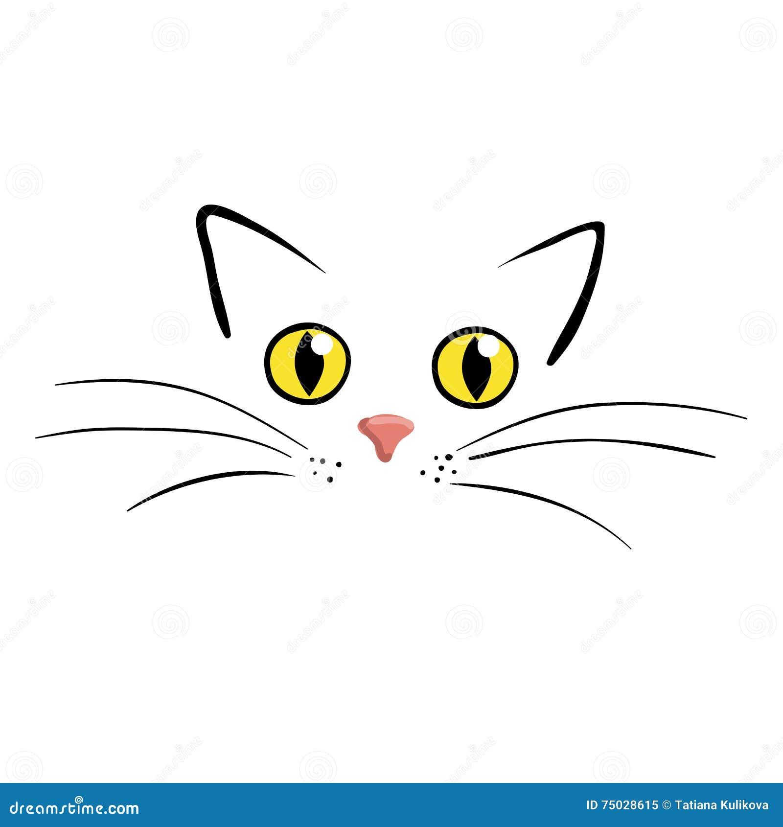 zeichnung katzengesicht