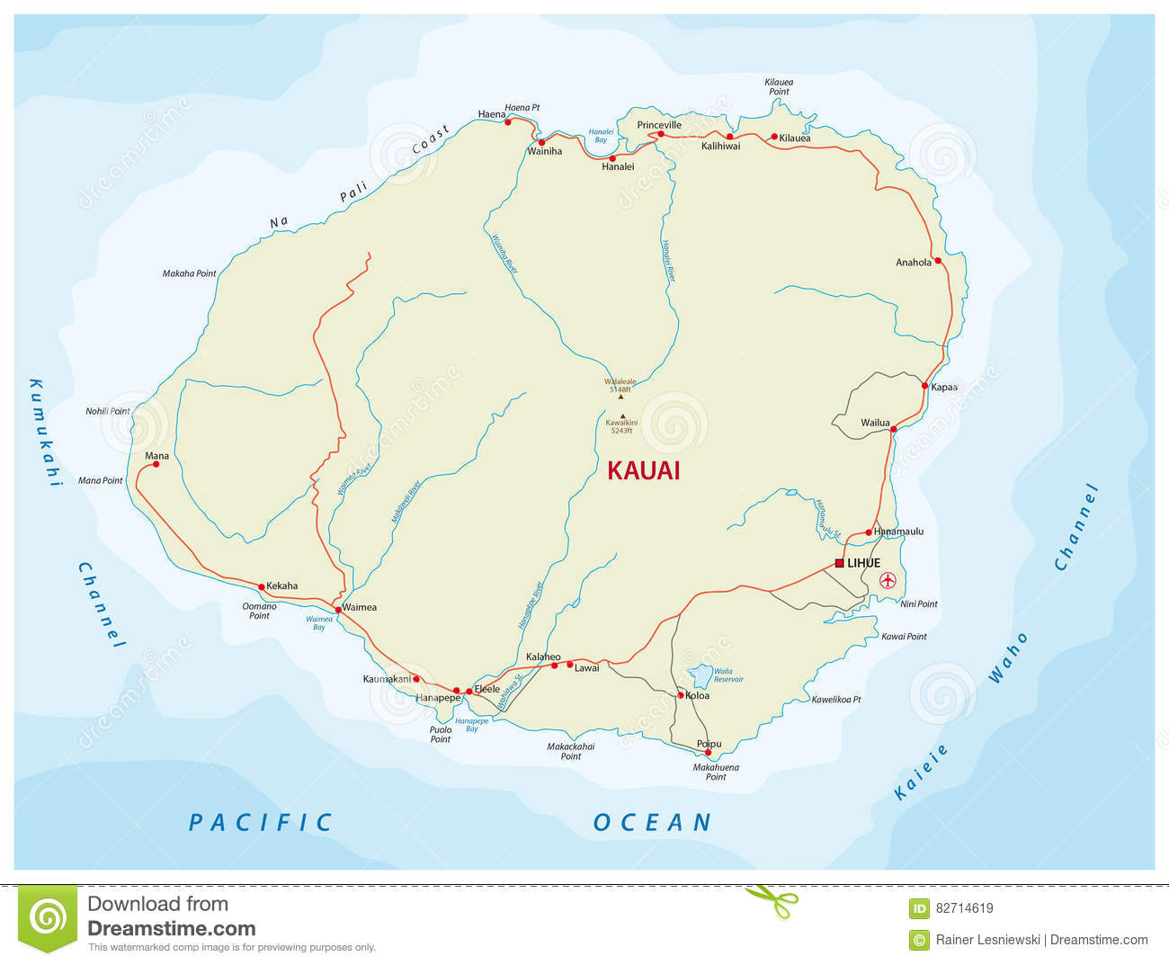 Kauai road map stock vector. Illustration of volcano - 82714619 on map of glasgow, map of johannesburg, map of cedar rapids, map of miami, map of madrid, map of lansing, map of norfolk, map of new york, map of salt lake city, map of kona, map of lanai city, map of porto, map of florence, map of kahului, map of ontario, map of hilo, map of honolulu, map of singapore, map of hawaiian islands, map of cancun,