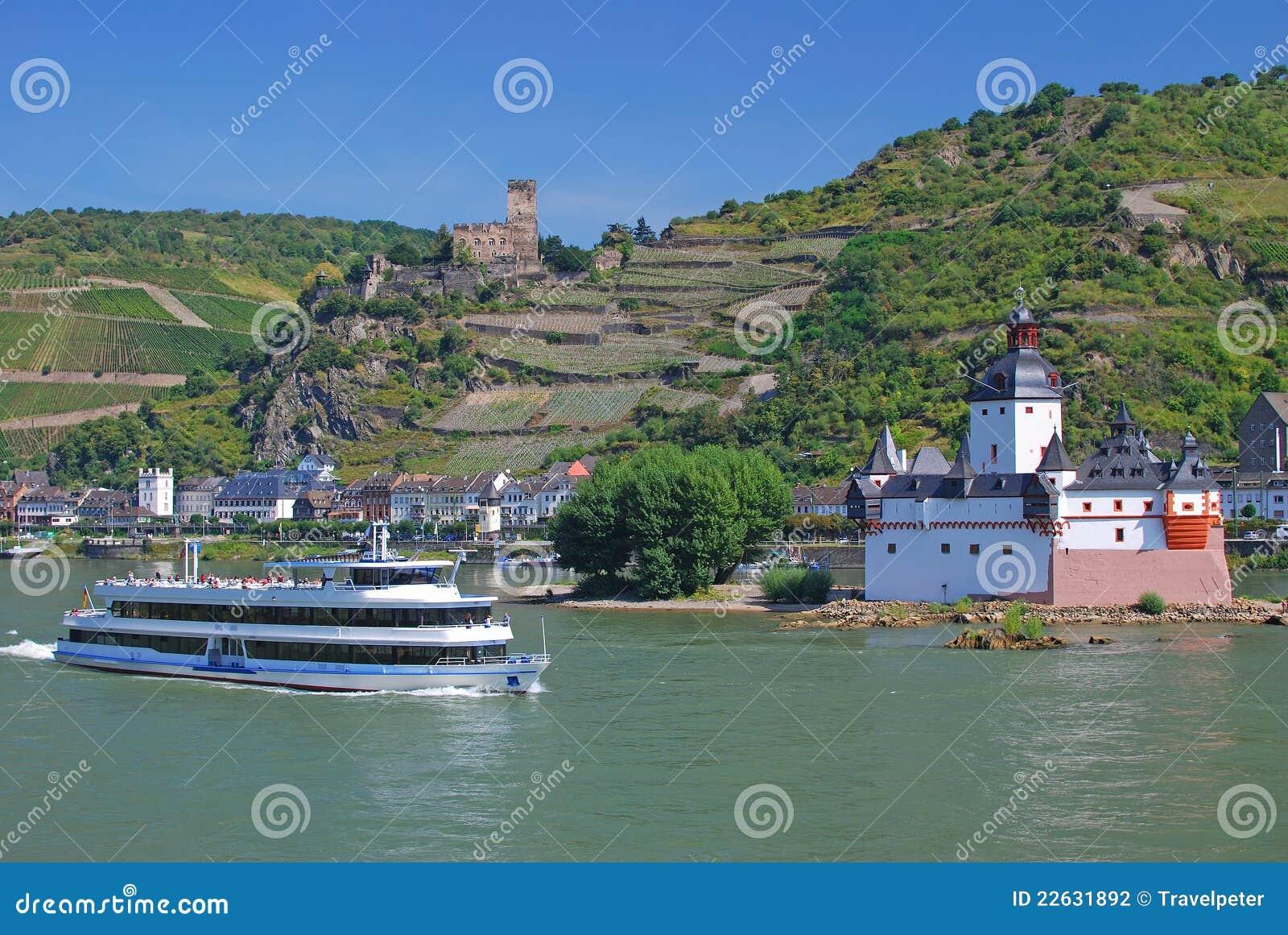 Kaub, castelo, vale de Rhine, Alemanha