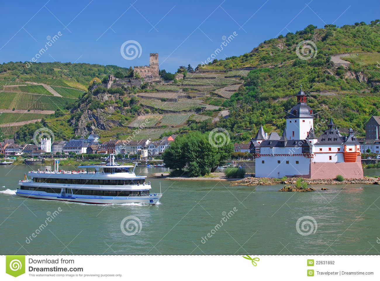 Kaub,Castle,Rhine Valley,Germany