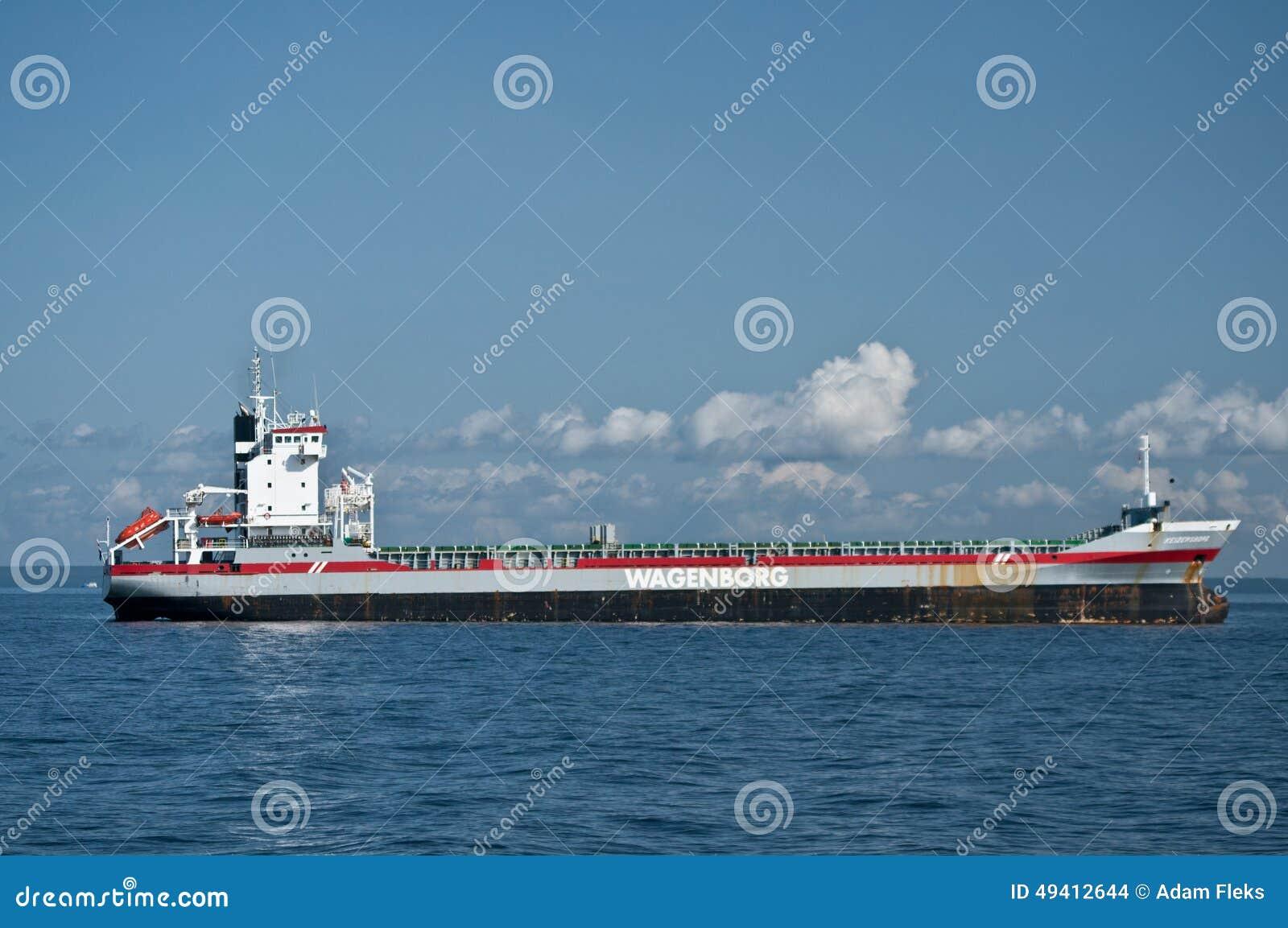 Download Kaufmann Ship am Anker redaktionelles stockbild. Bild von anker - 49412644