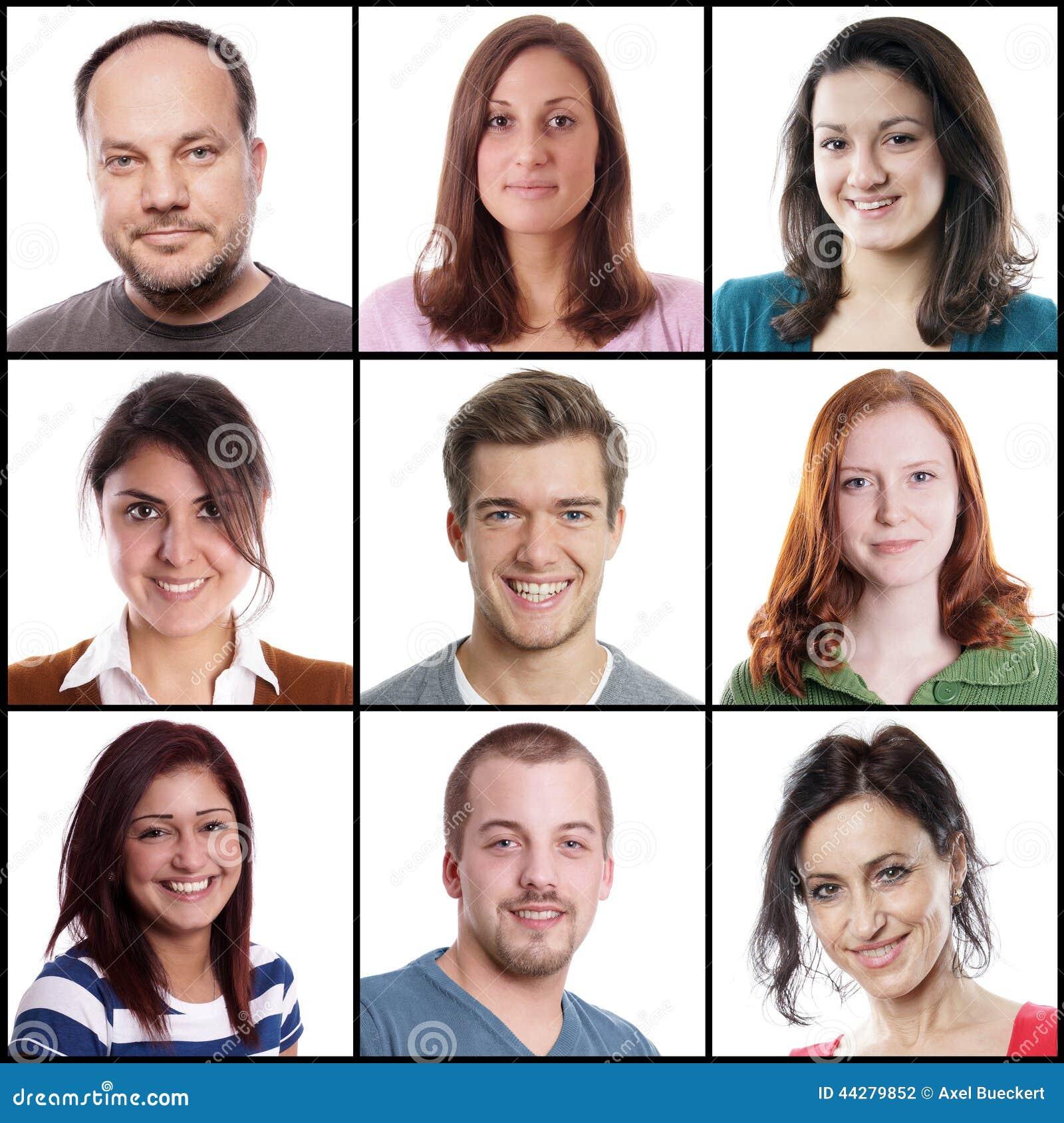 Kaukasische vrouwen en mannen die zich van 18 tot 45 jaar uitstrekken