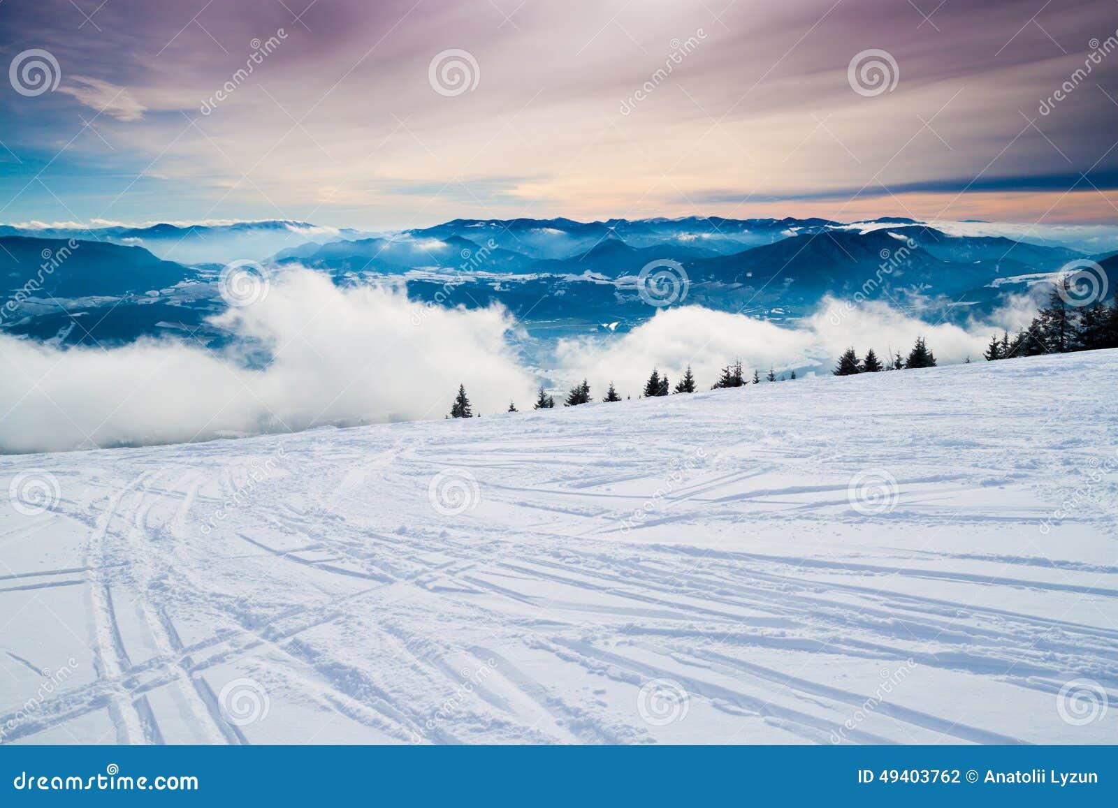 Download Kaukasus, Region Dombay stockfoto. Bild von kalt, wald - 49403762