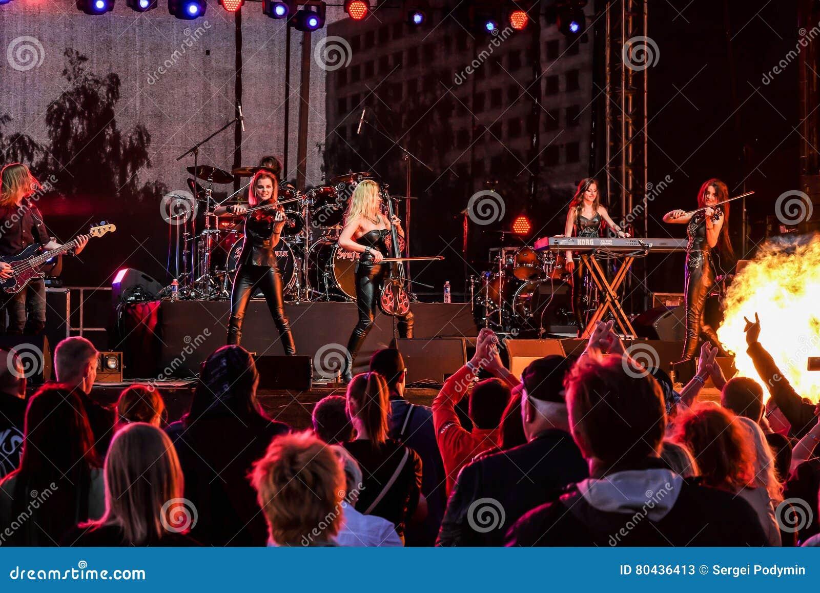 Kaunas, Lithuania - June 04, 2016: Sympho-rock Band