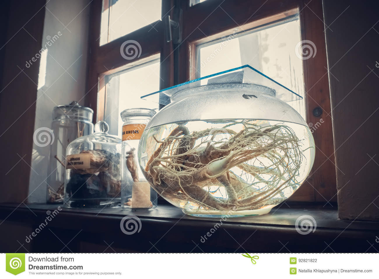 Kaunas, Lithuania - May 12, 2017: retro drugs, infusion in Museum of Medicine.