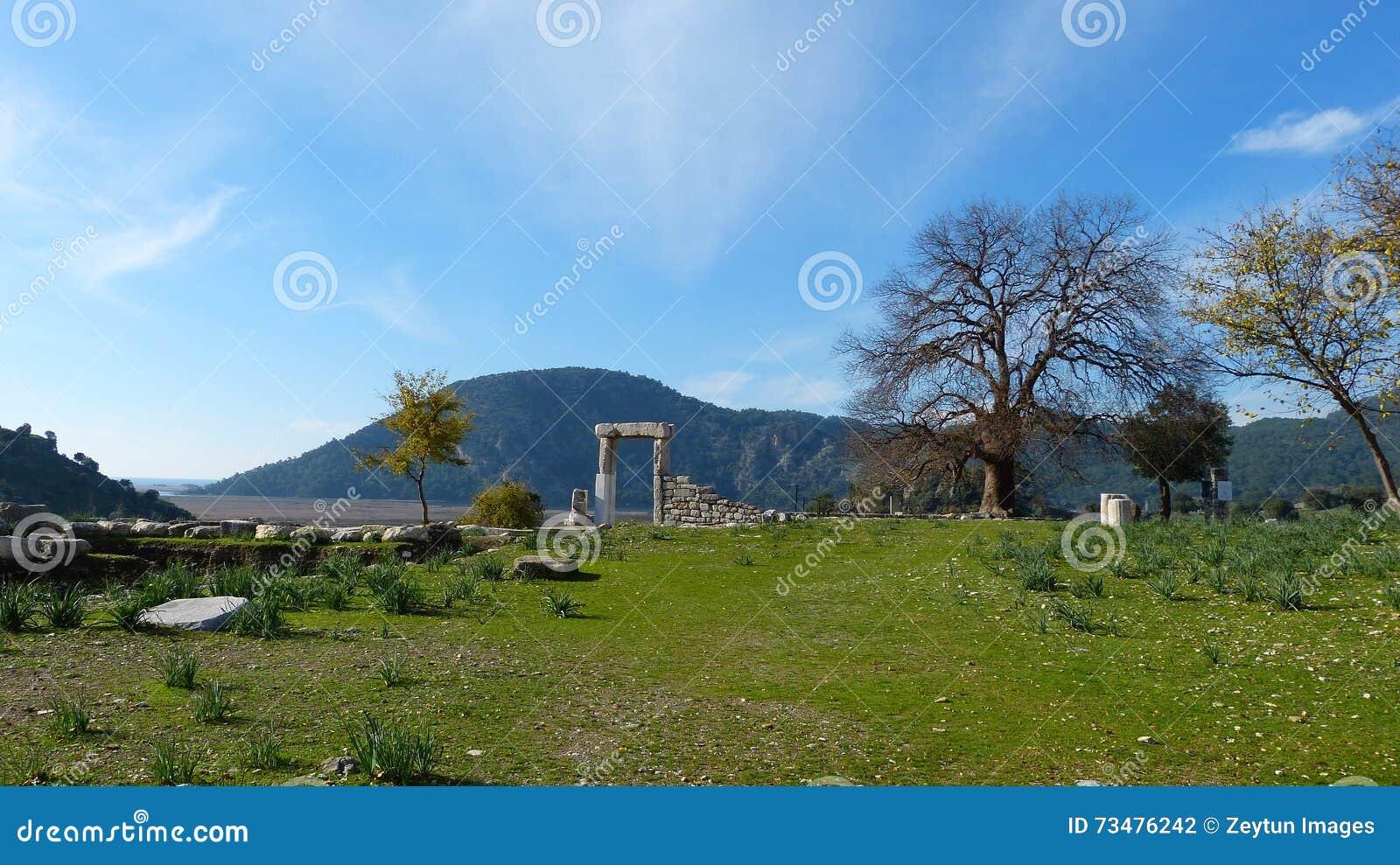 Kaunos废墟在土耳其