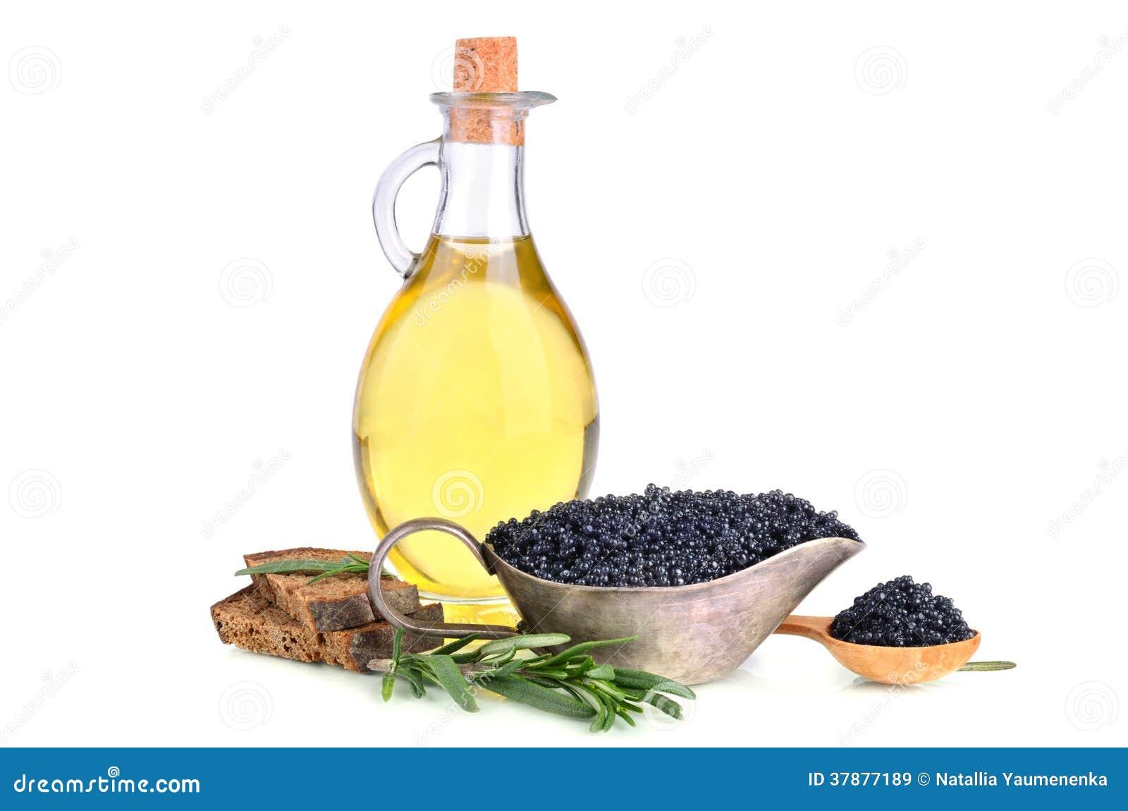 Kaviaar en olie