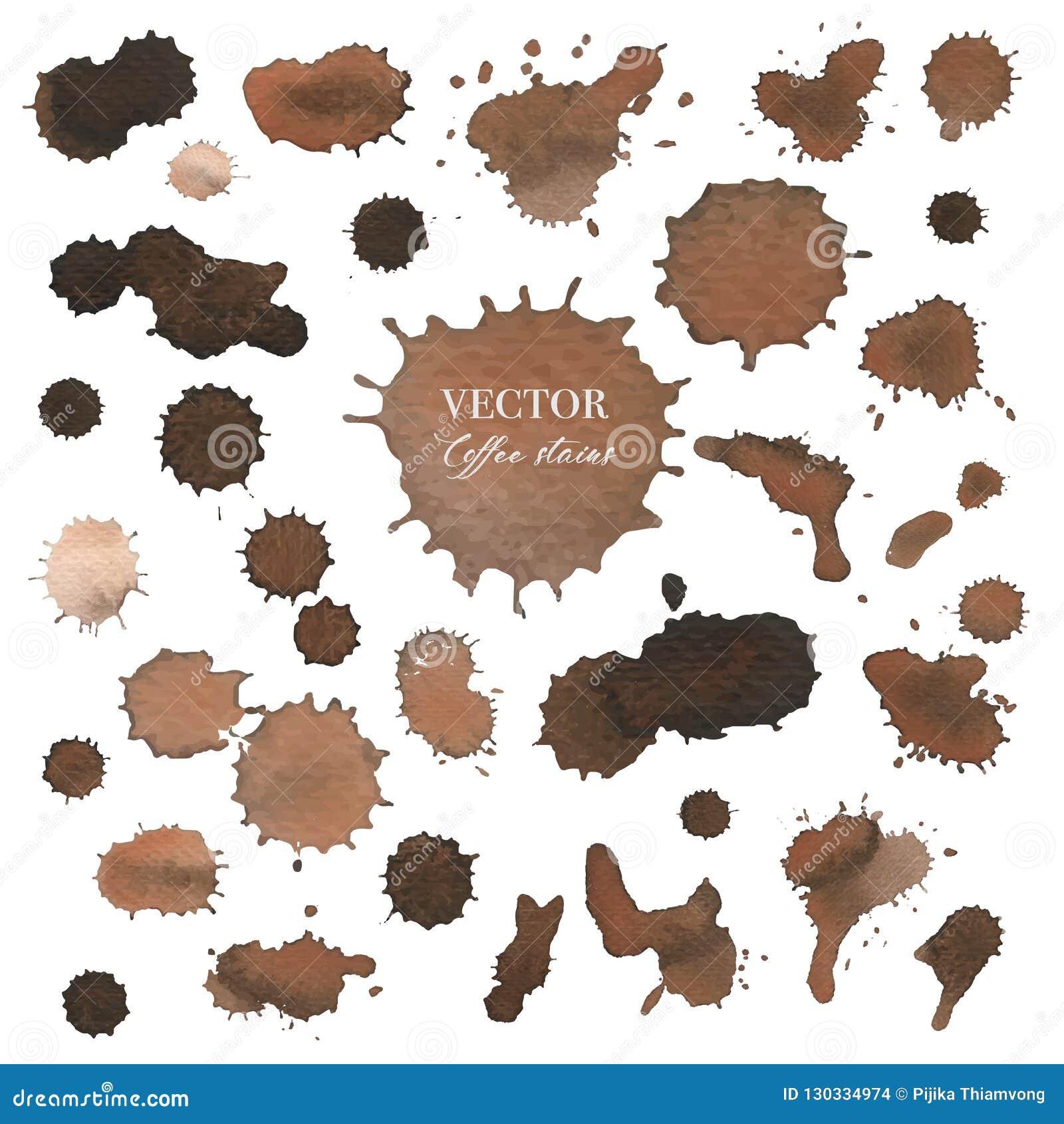 Kaw plamy, Brown pluśnięcia kiści tekstura odizolowywająca na białym tle