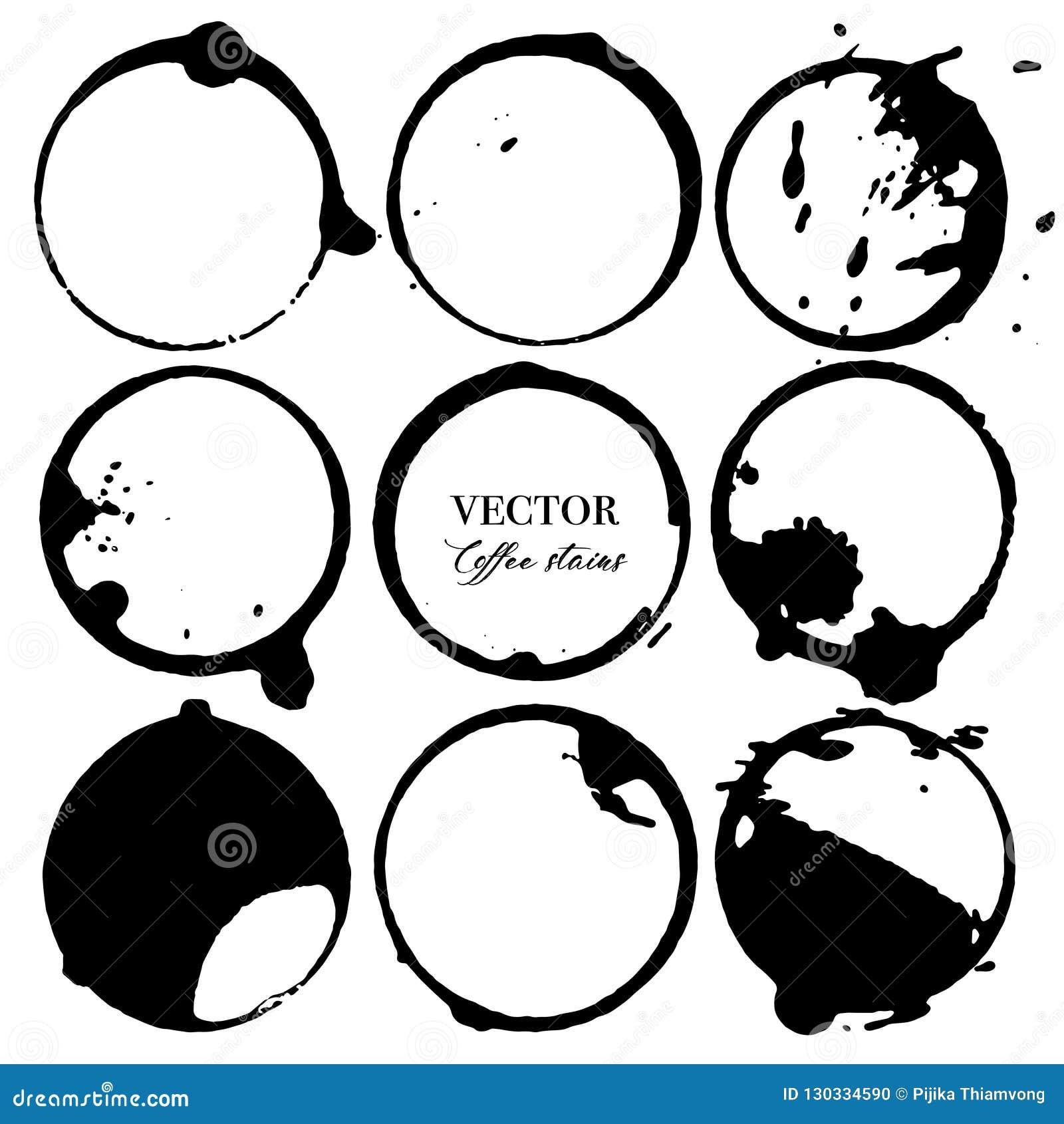 Kaw plamy, Czarny atramentu okrąg odizolowywający na białym tle