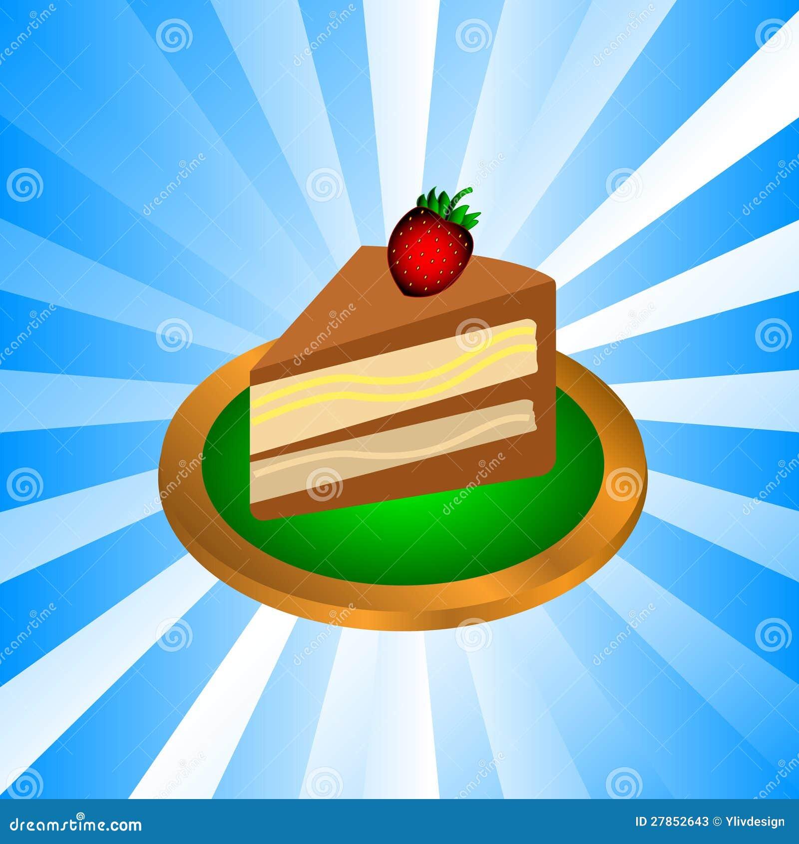 Kawałek czekoladowy tort