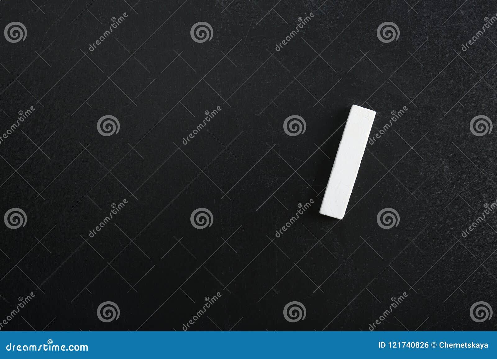 Kawałek kreda na blackboard