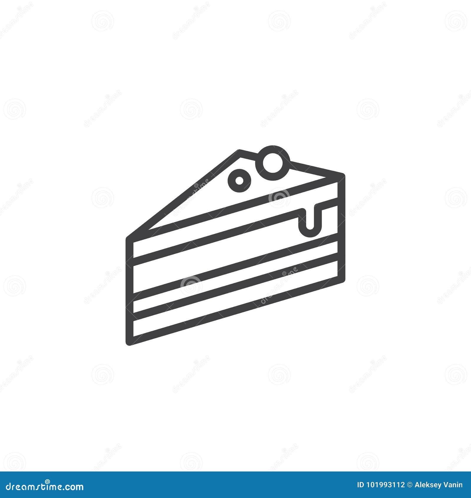 Kawałek tort linii ikona
