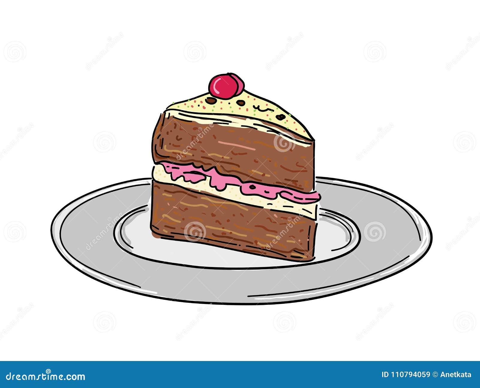Kawałek urodzinowi torty