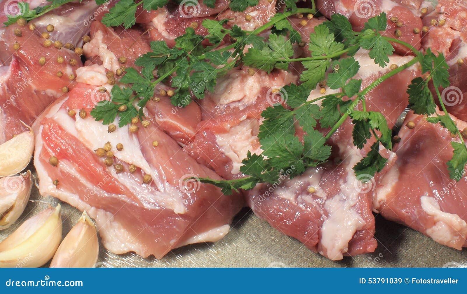 Kawałki mięso z pikantność