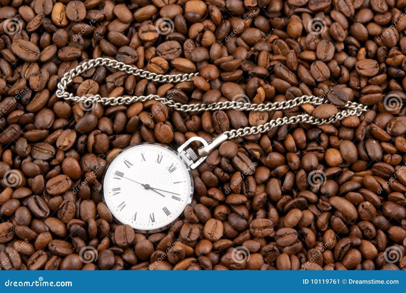 Kawa groszkuje czas zegarek