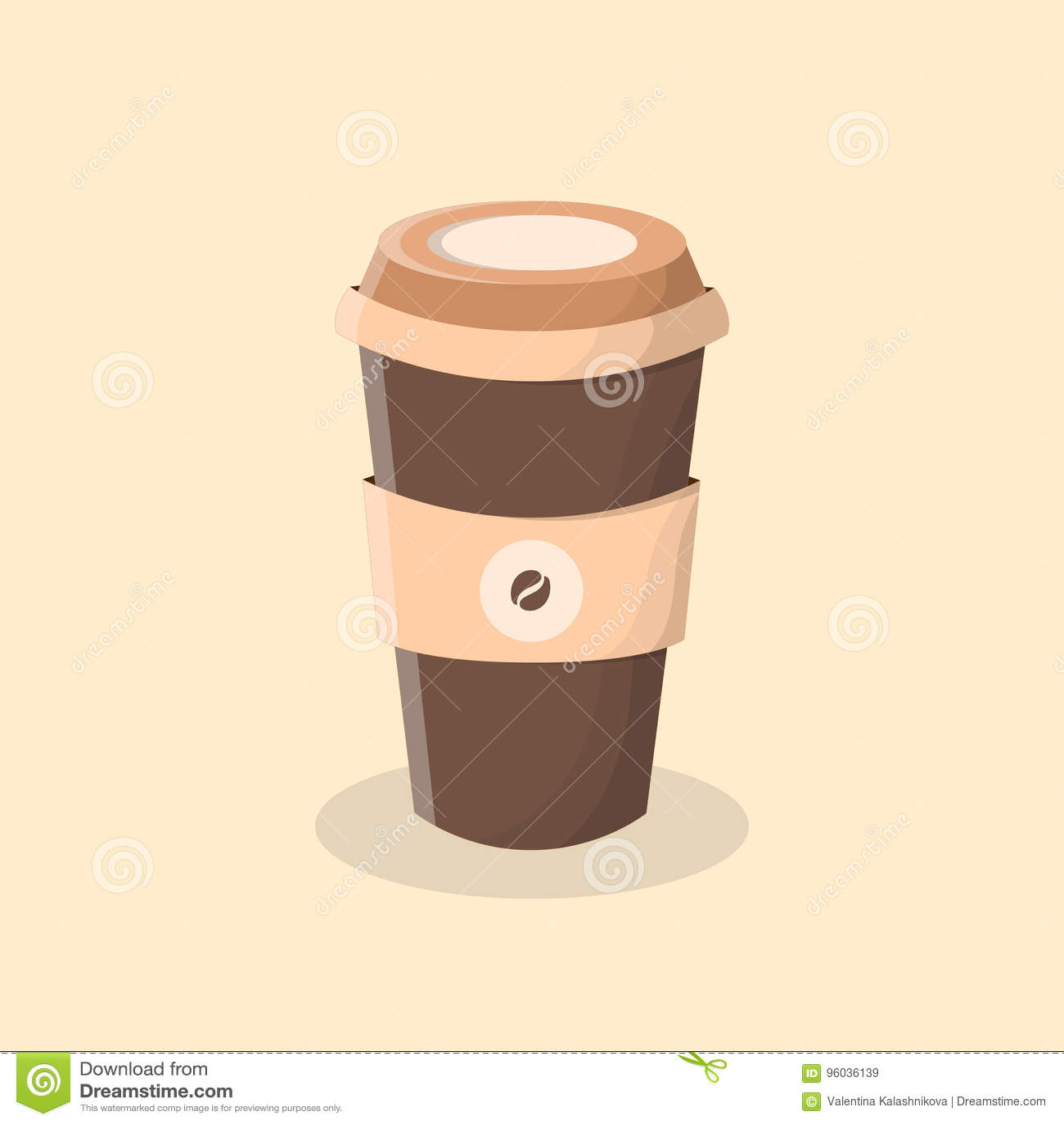 Kawa idzie Filiżanka kawy