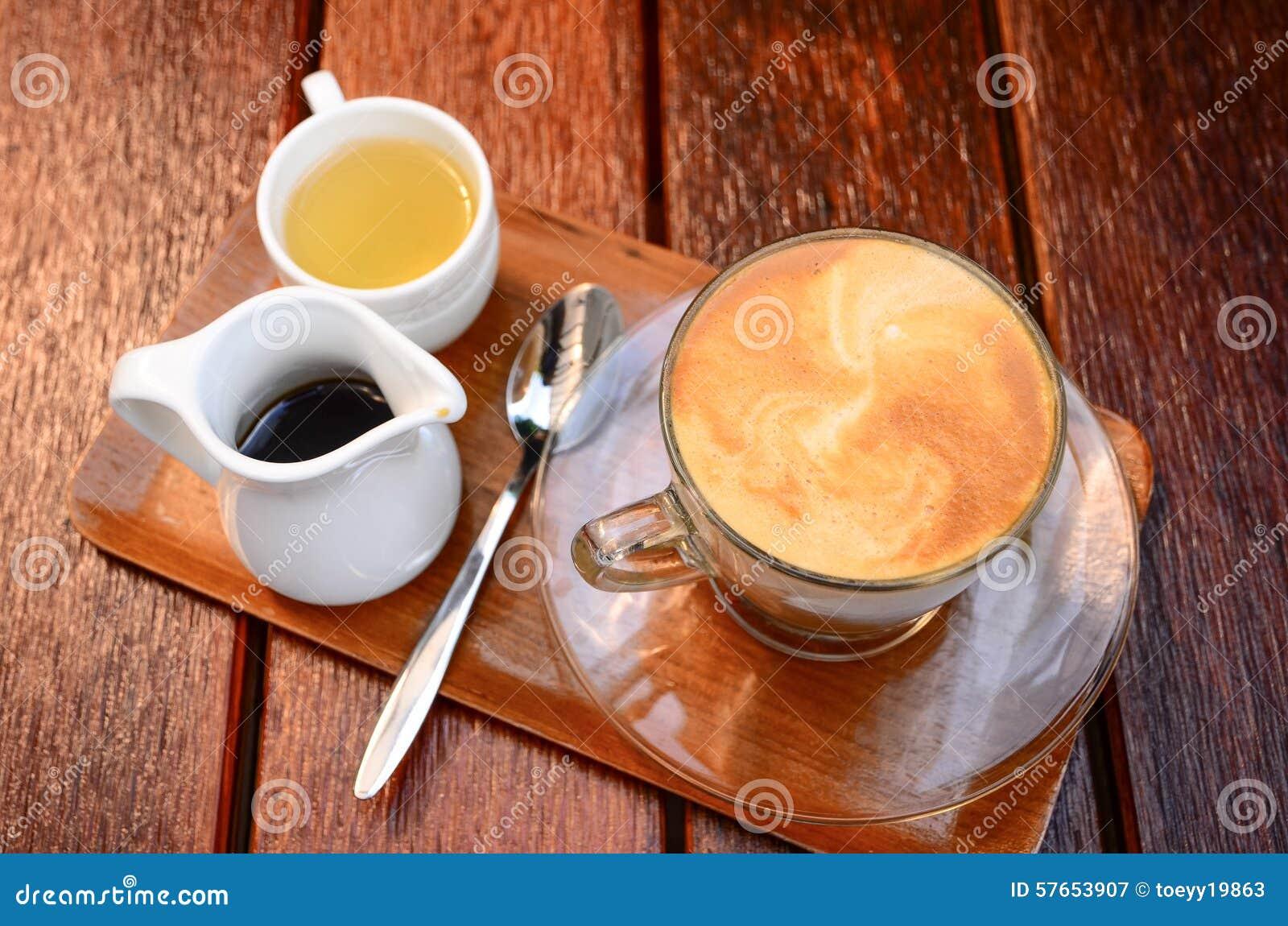 Kawa z herbatą