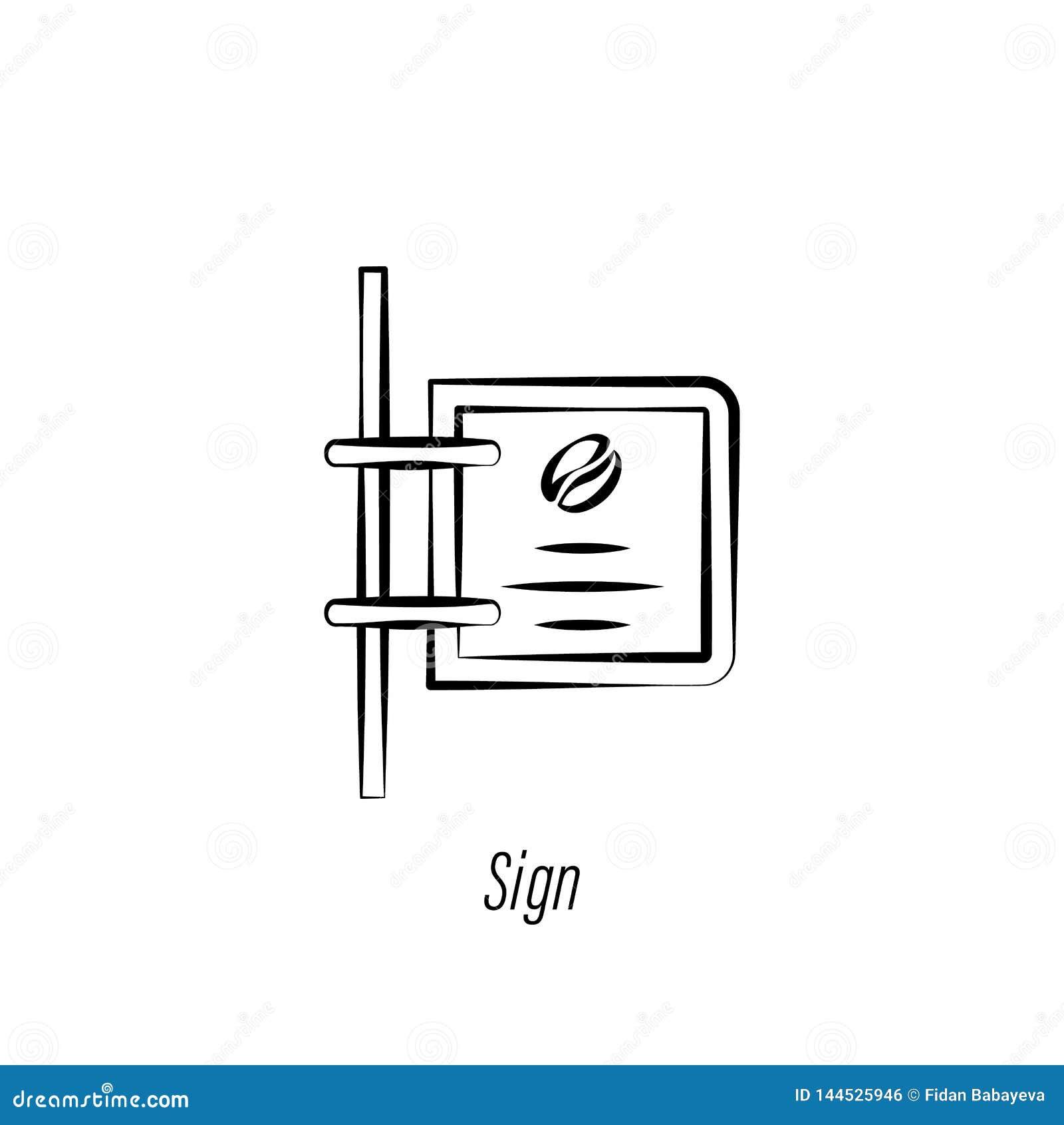 Kawa znaka r?ki remisu ikona Element kawowa ilustracyjna ikona Znaki i symbole mog? u?ywa? dla sieci, logo, mobilny app, UI, UX