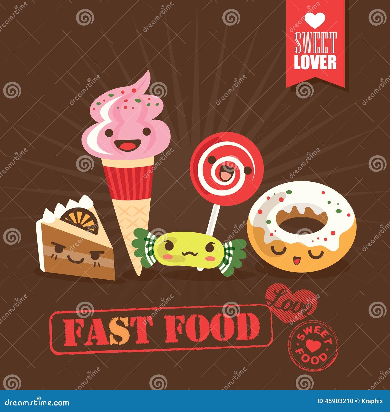 Fast Food Cartoon Characters
