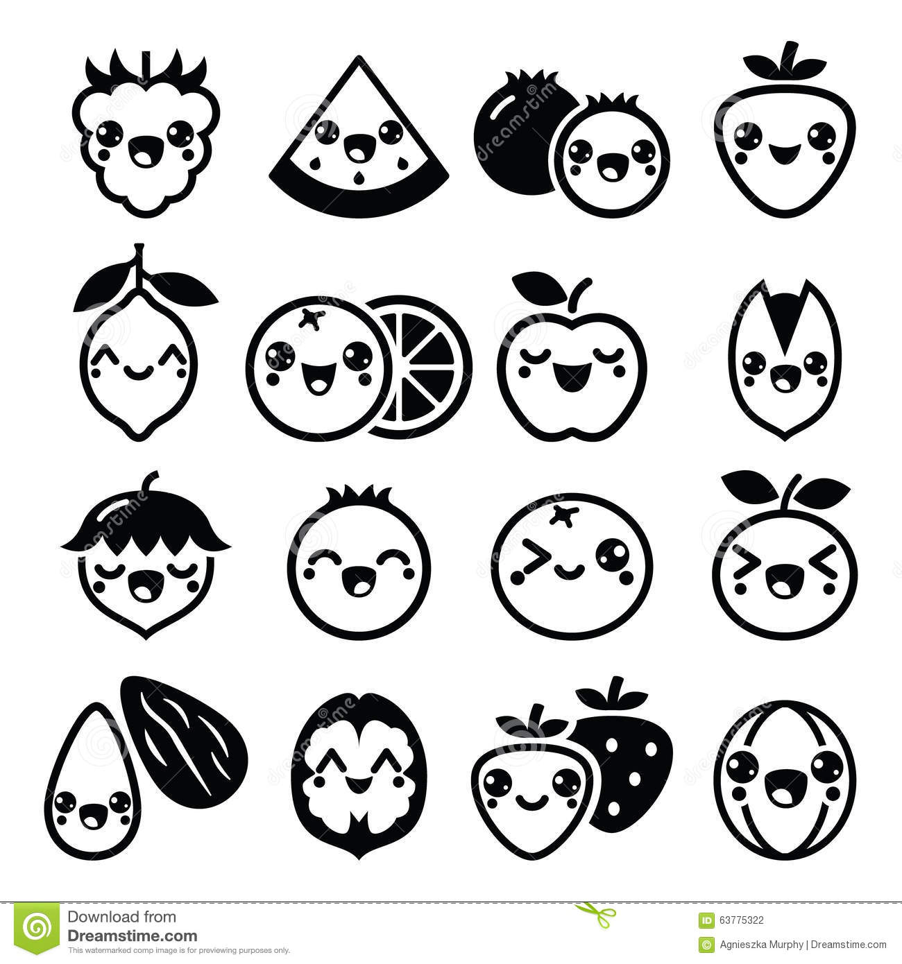Butterfly Rose 39205975 additionally Fox Clipart Black And White 28884 also Thing 716495 additionally Elephantbell additionally Stock Illustration Kawaii Fruit Nuts Cute Characters Design Vector Icons Set Japanese Black White Image63775322. on owl drawings