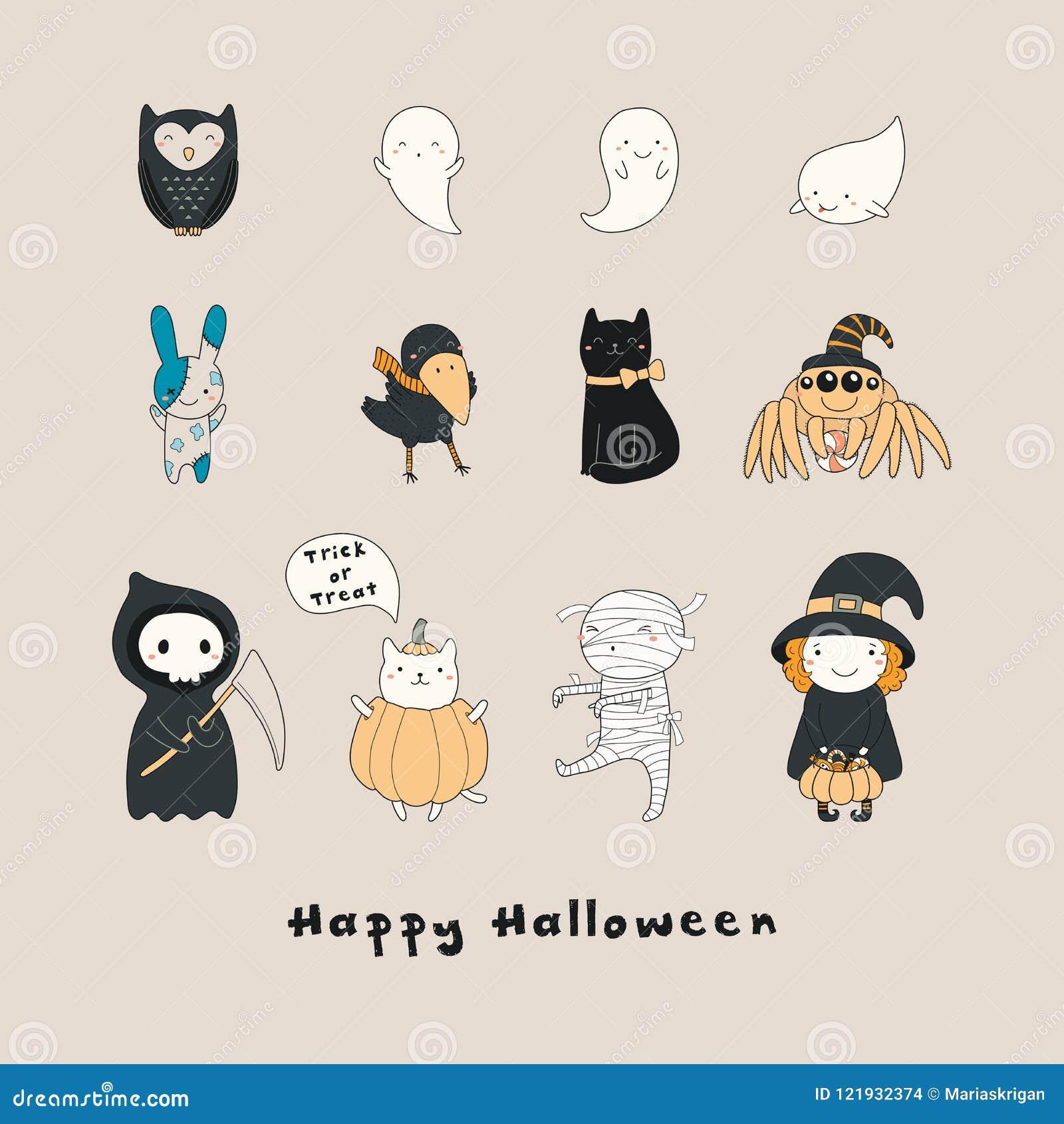 Kawaii Halloween characters