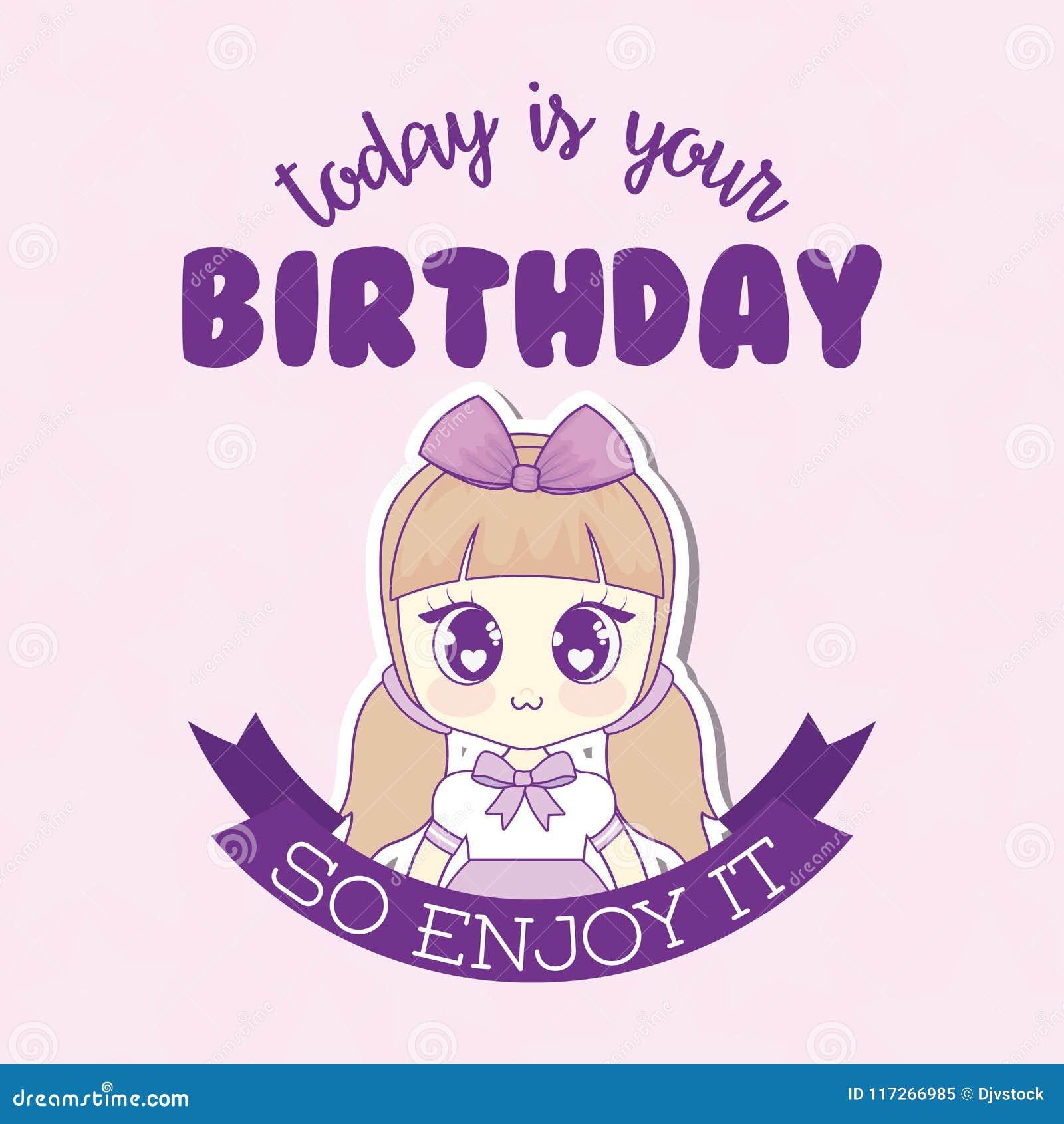 Kawaii Happy Birthday