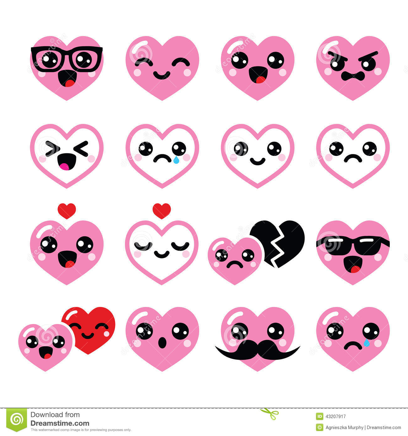 kawaii hearts  valentine s day cute vector icons set stock Funny Grilled Cheese grilled cheese clip art free