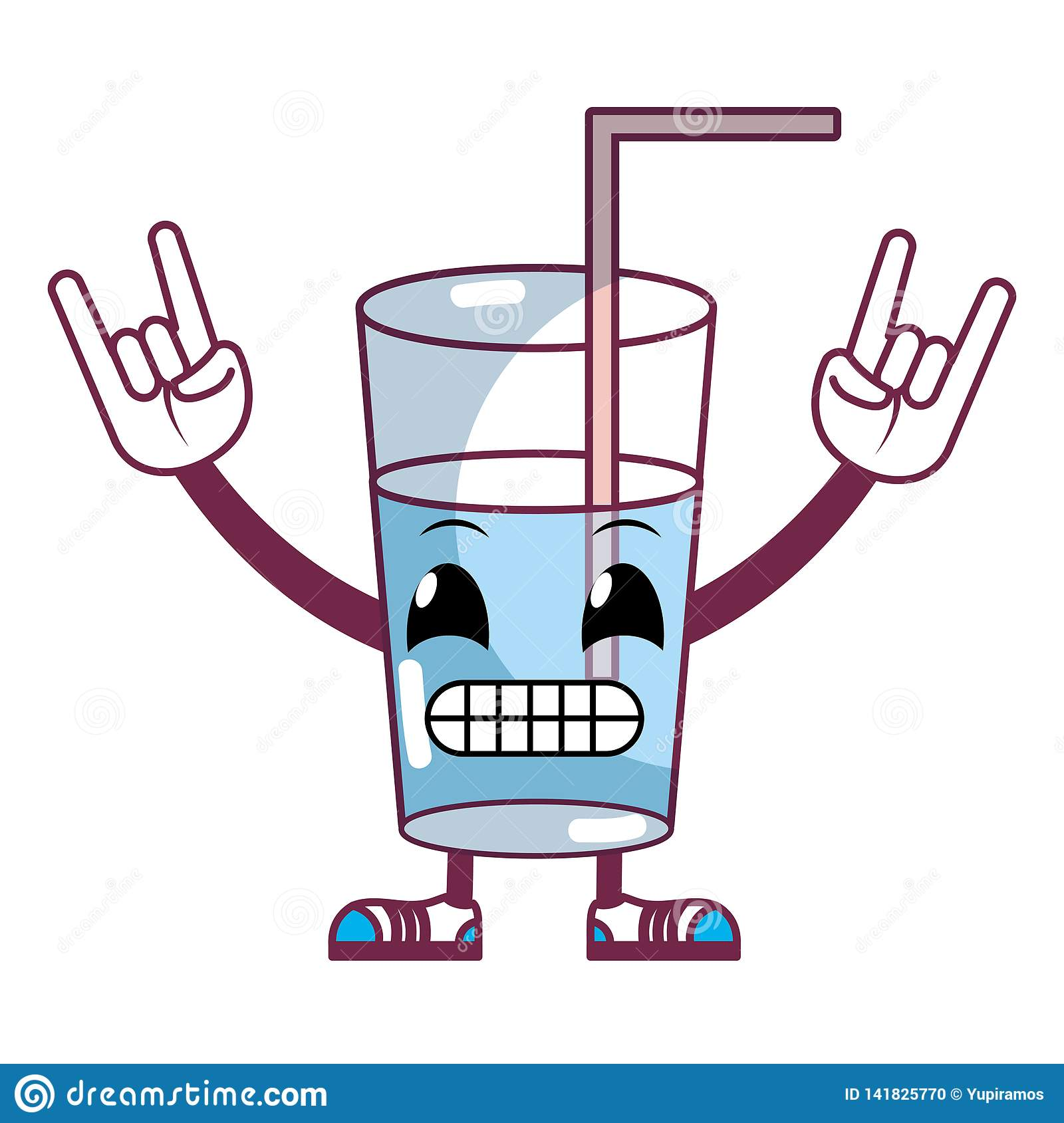 Kawaii humoristiskt sötvattenexponeringsglas