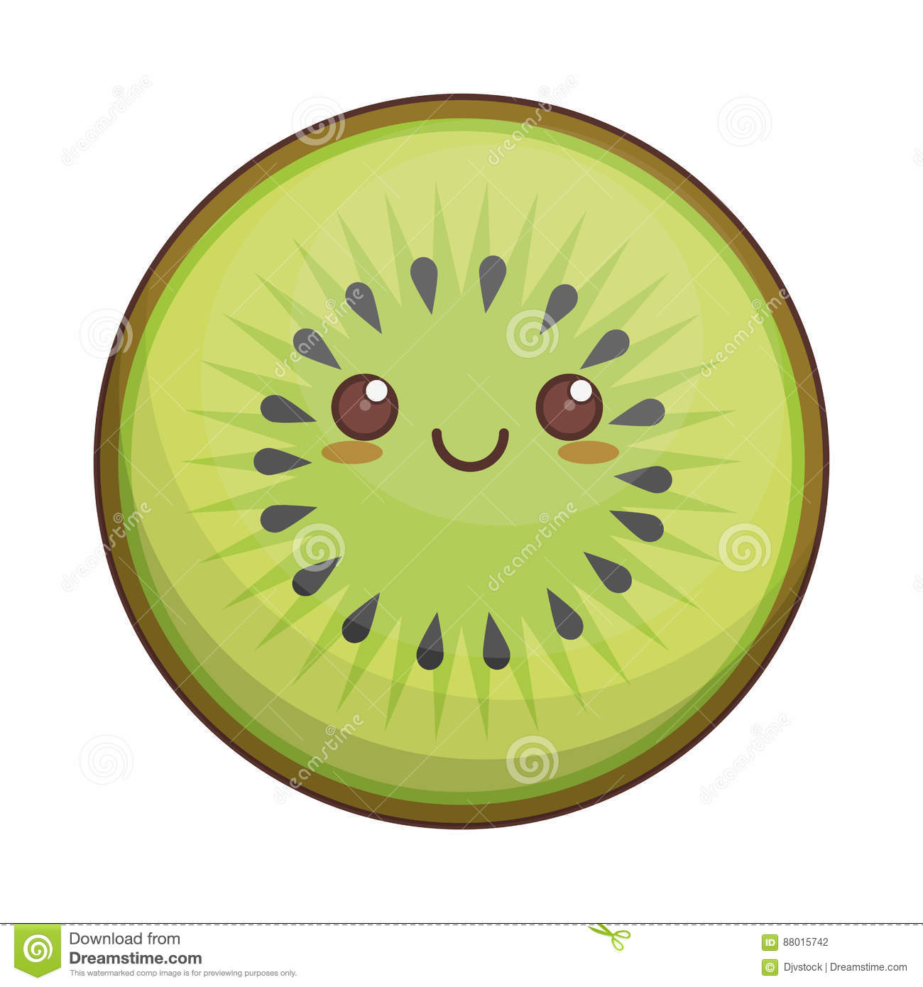 Stock Illustration Kawaii Kiwi Fruit Icon Illustration Eps Image88015742 on banana cartoon character