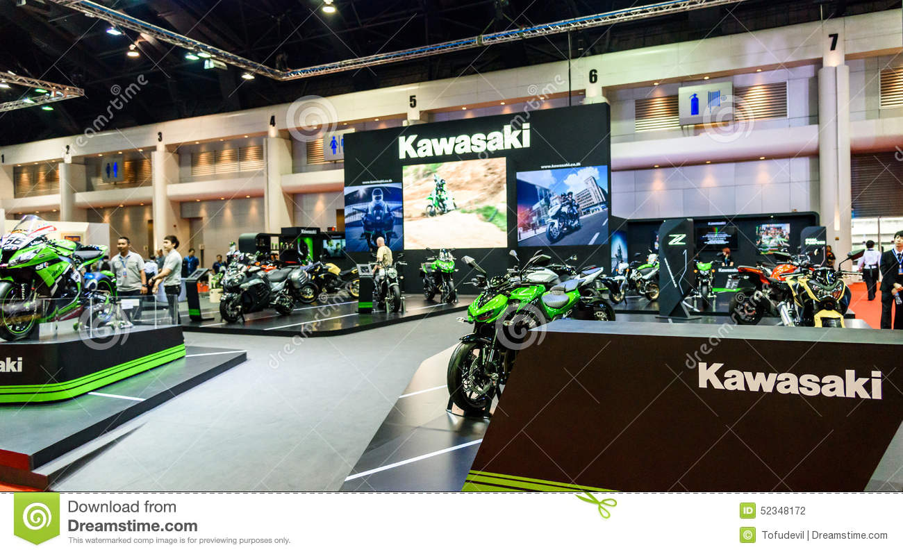 Exhibition Booth Bangkok : Kawasaki booth at the th bangkok international motor