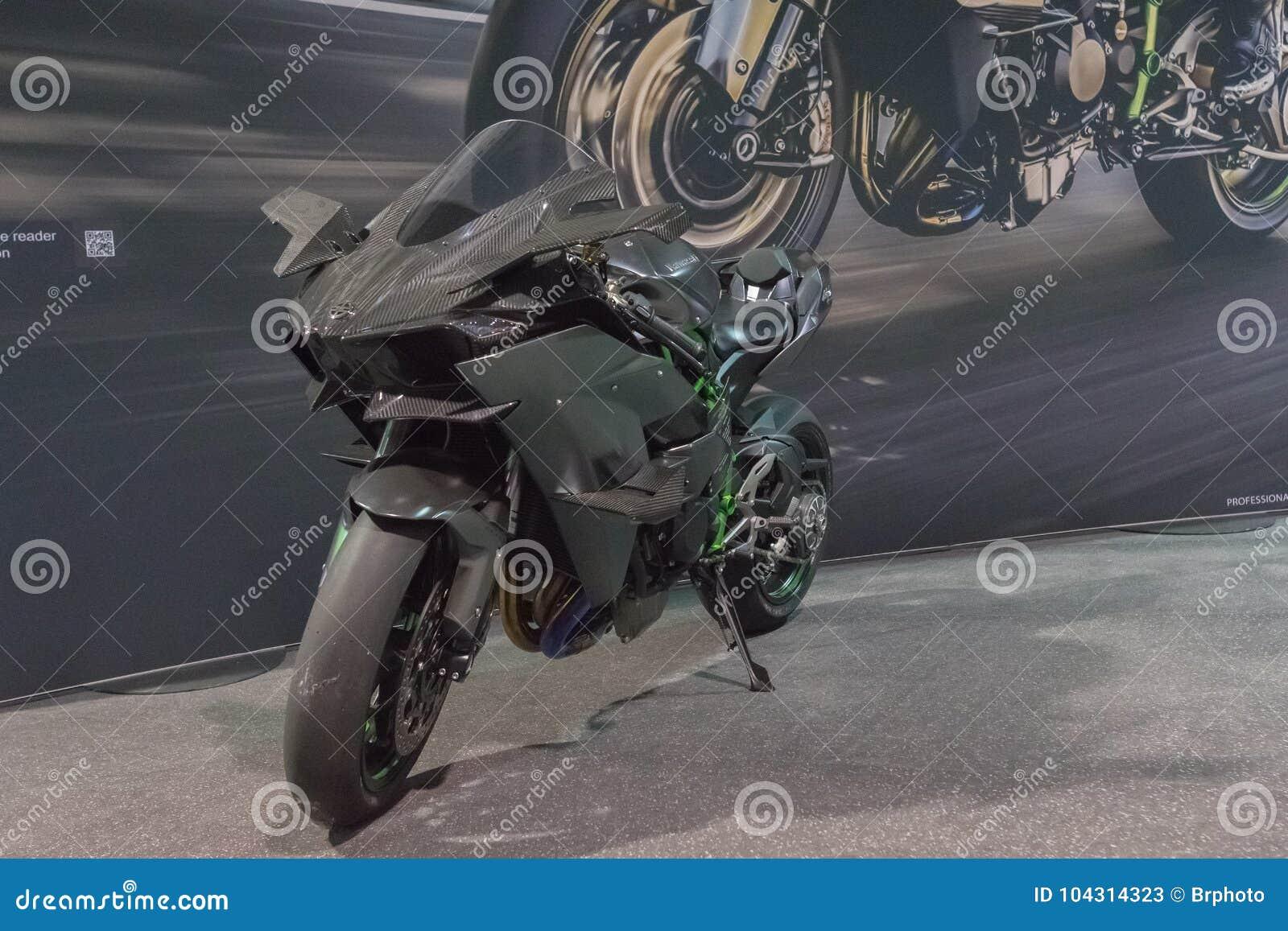 Kawasaki Ninja H2 On Display Editorial Stock Photo Image