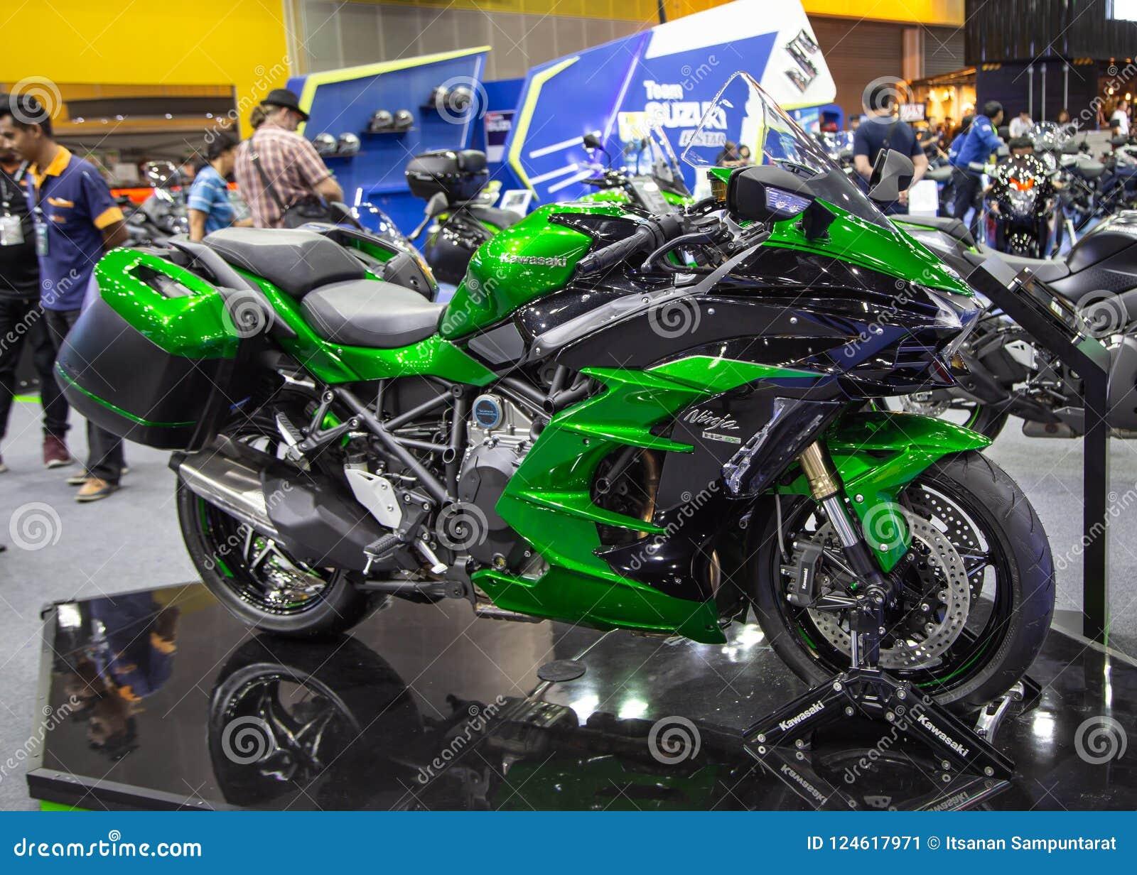Kawasaki Ninja H2 Sx Foto Editorial Imagem De Motorbike 124617971