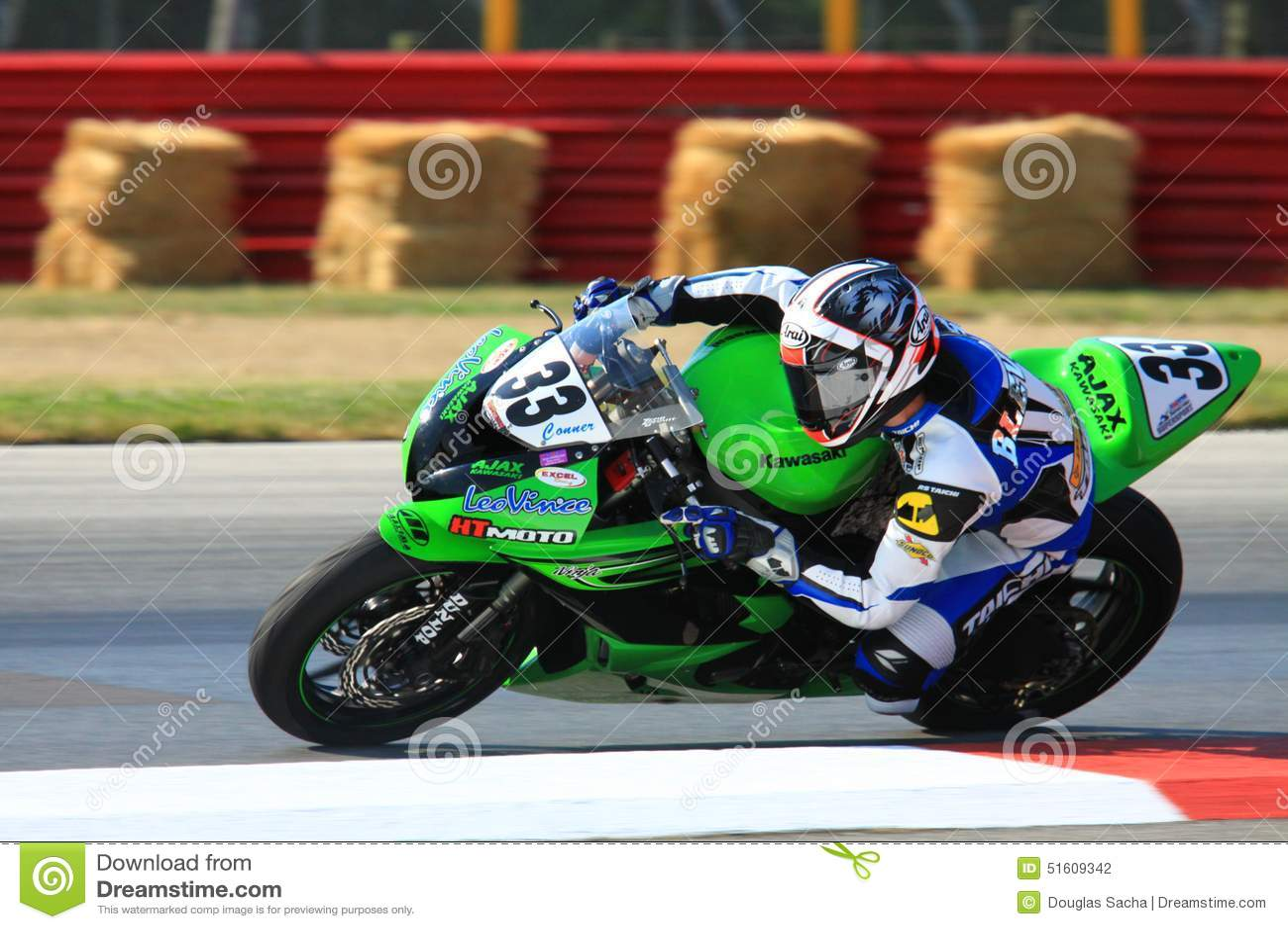 kawasaki racing bike editorial photography - image: 51609342
