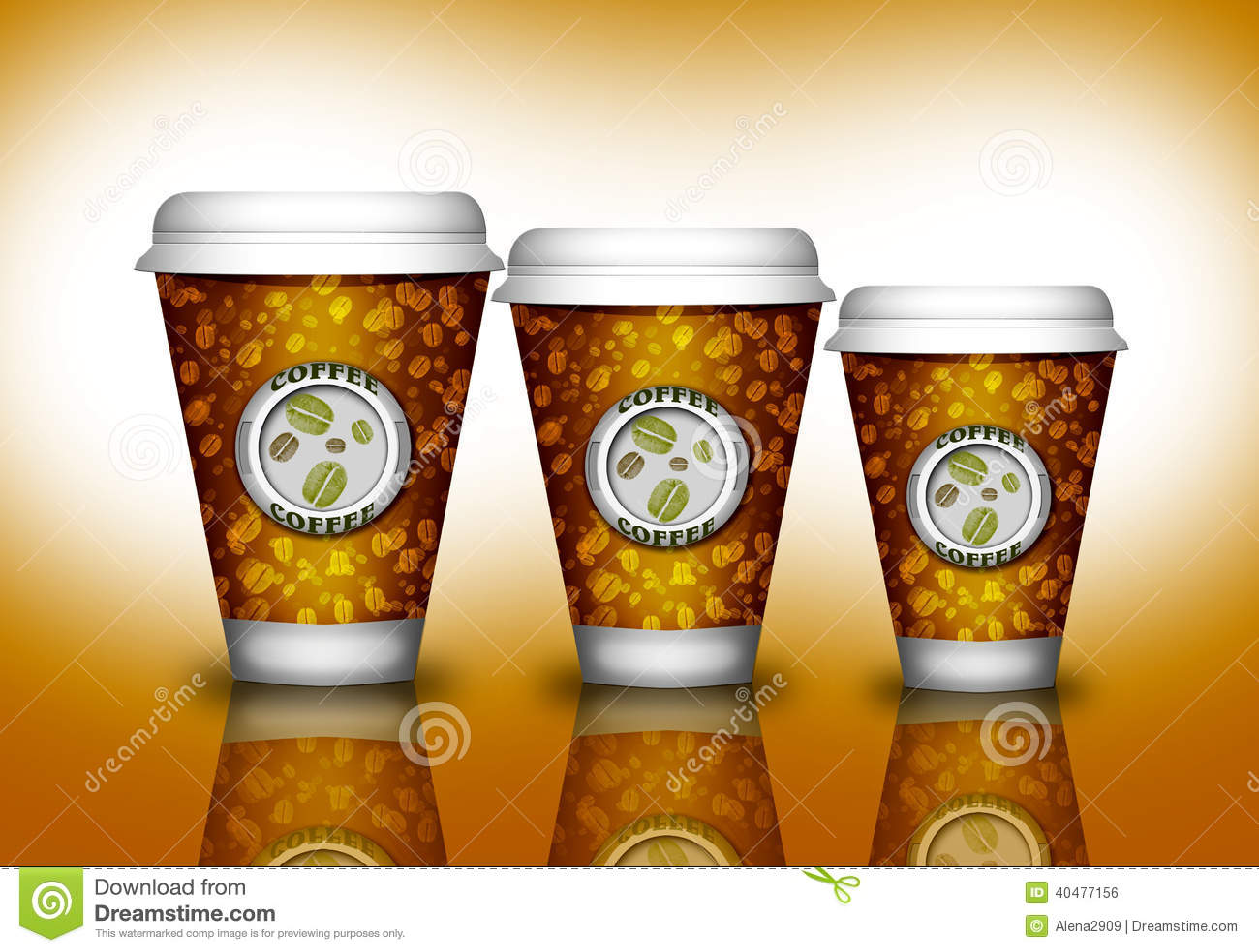 Kawowa papierowa filiżanka