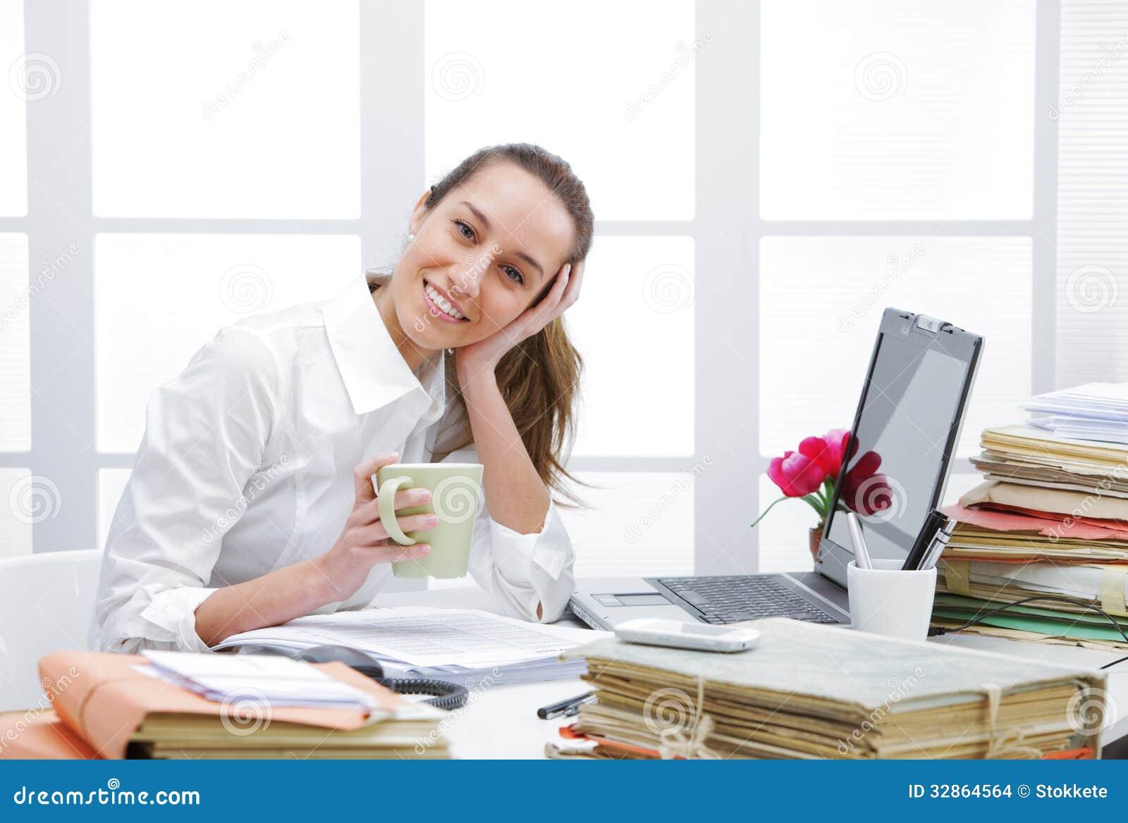 Kawowa przerwa w biurze