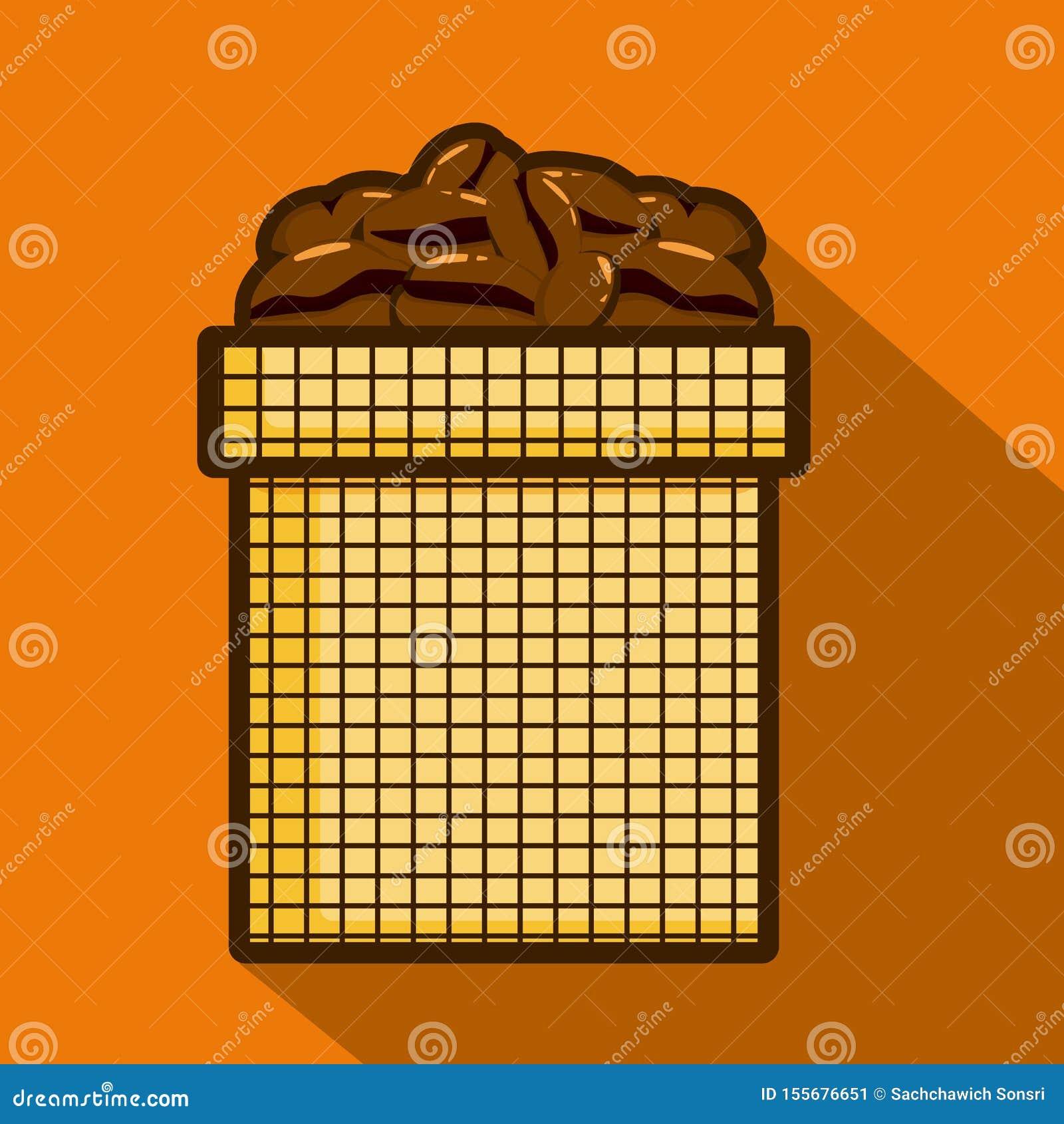 Kawowe fasole w worku lub torbie dla kawy Odizolowywaj?ca wektorowa ilustracja
