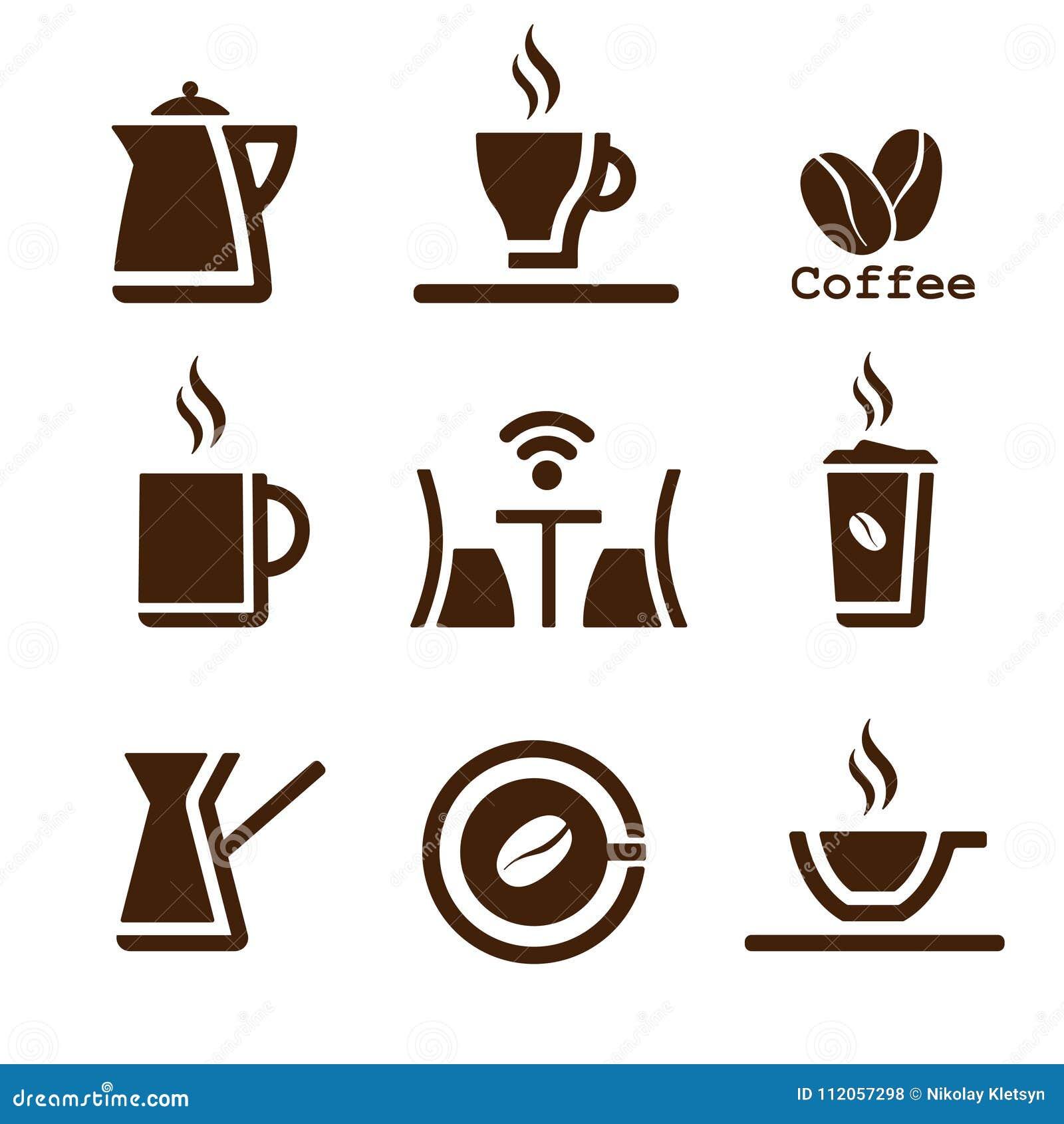 Kawowy brązu set