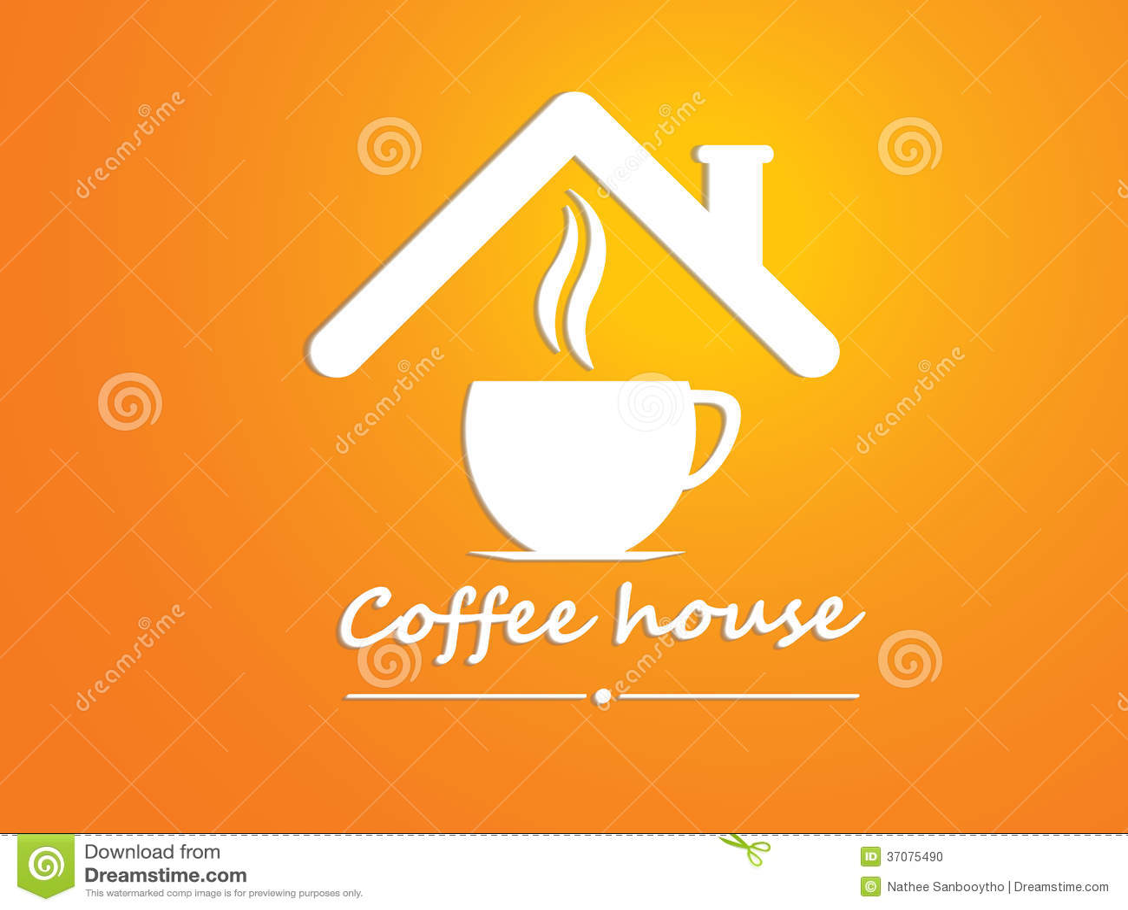 Download Kawowy lisiątko, kawa dom ilustracja wektor. Ilustracja złożonej z kawiarnia - 37075490