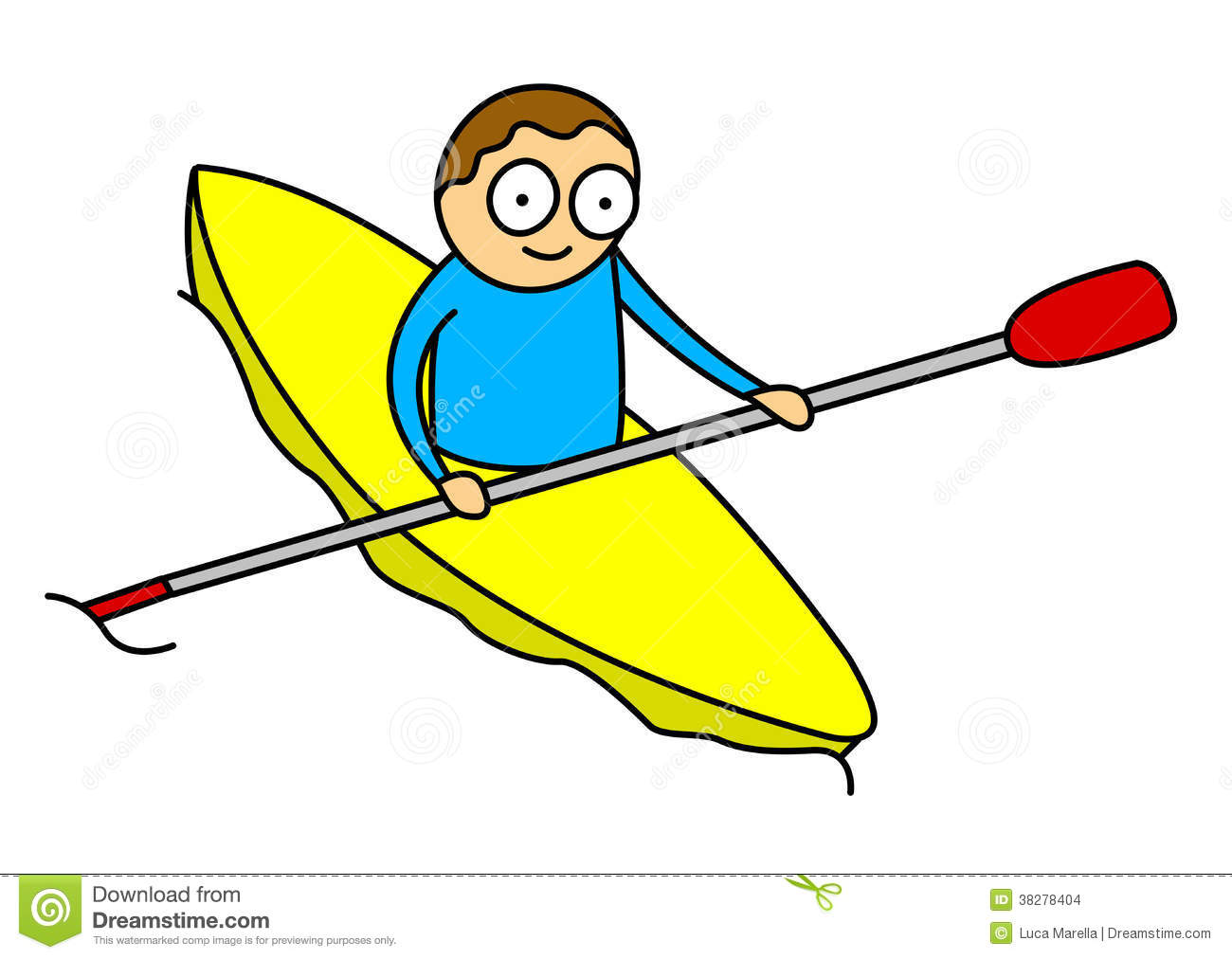 Stock Images Kayak Kid Image38278404 on Yellow Objects Clipart For Kids