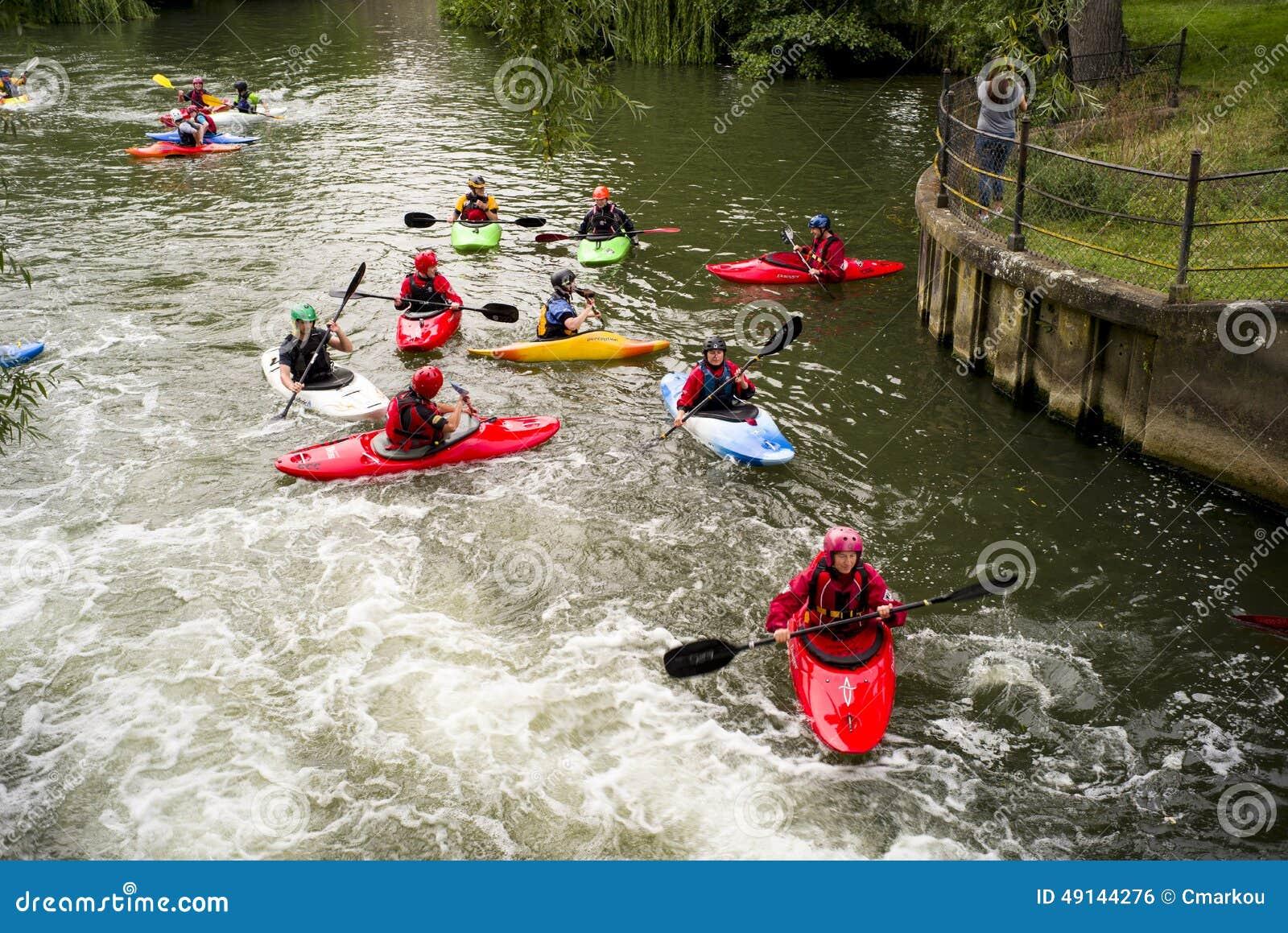 Download Kayak Practice In River Cam Editorial Photo - Image of rapids, kayakers: 49144276