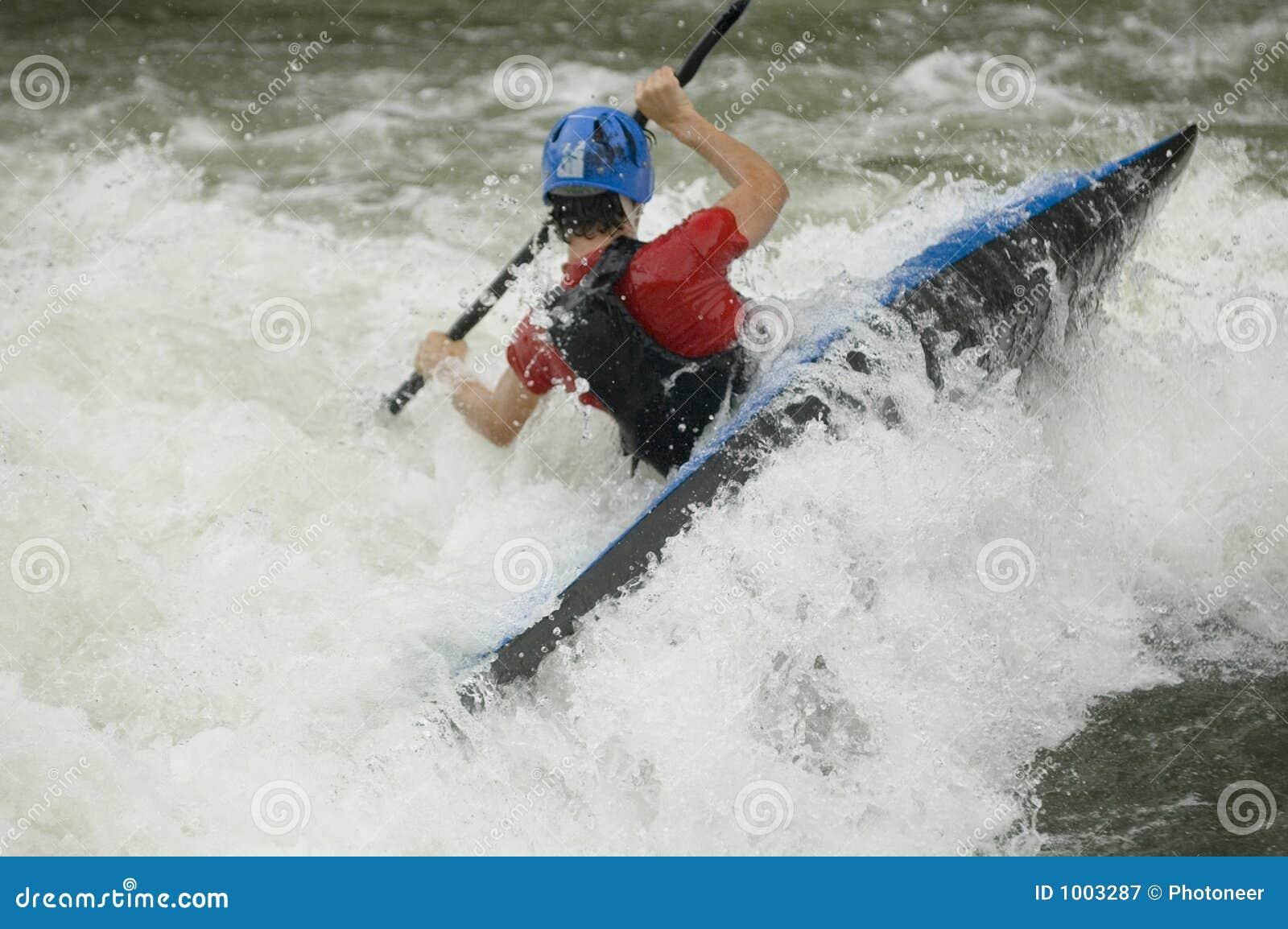 Kayaker de Whitewater