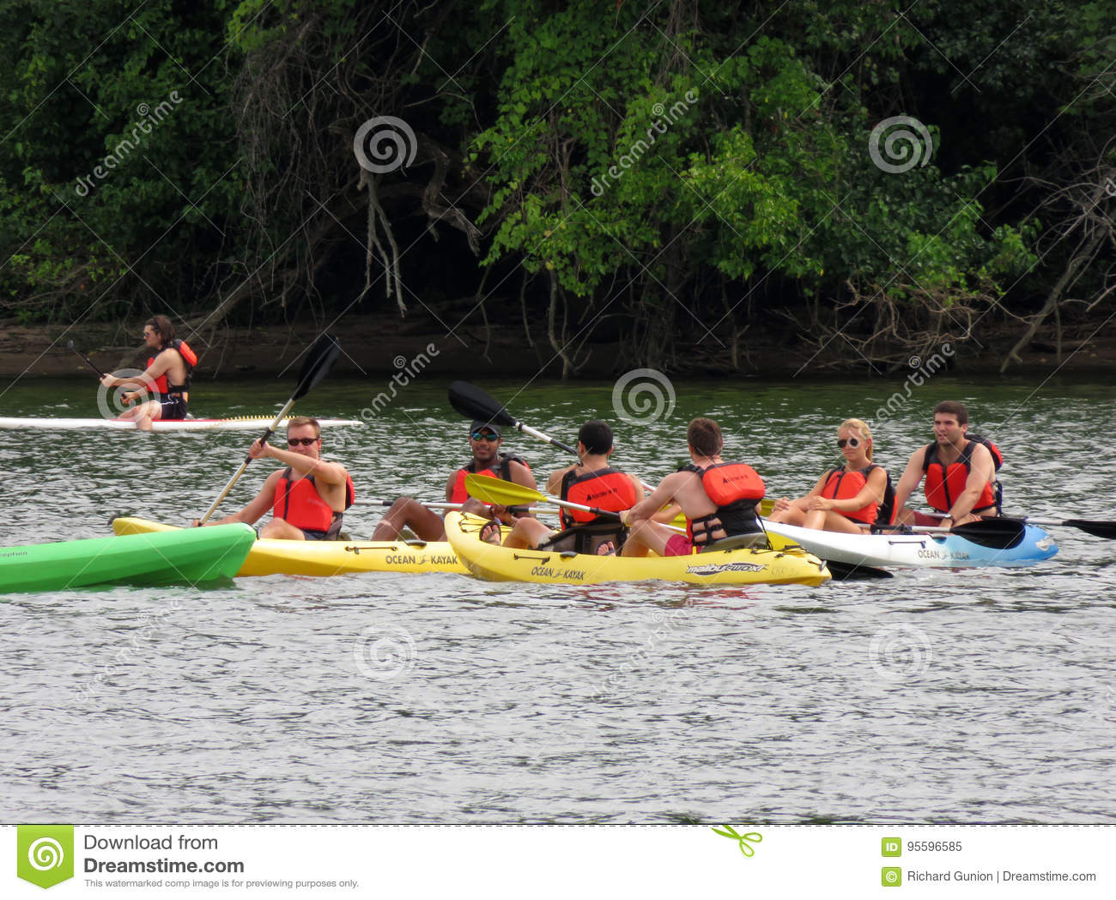Kayakers no Rio Potomac