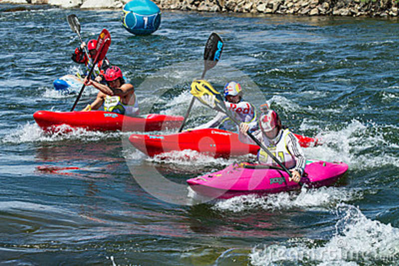 Kayakers During One Of The Races Editorial Photo - Image of activity