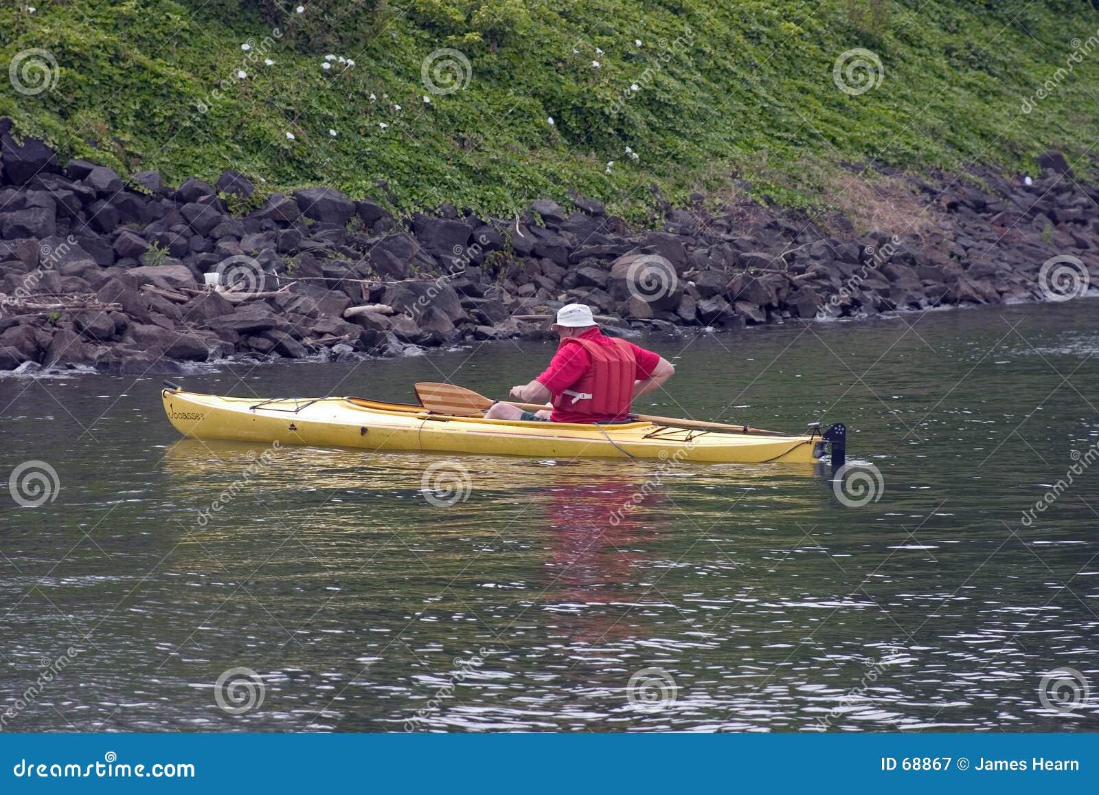 Kayaking человек