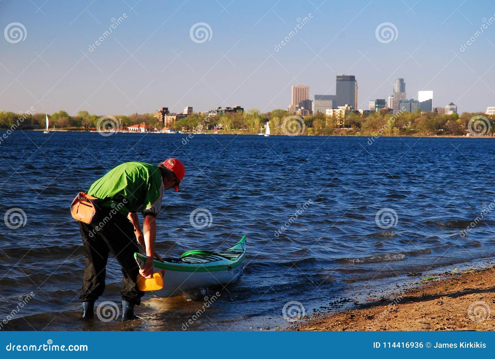 Kayaking at a city park