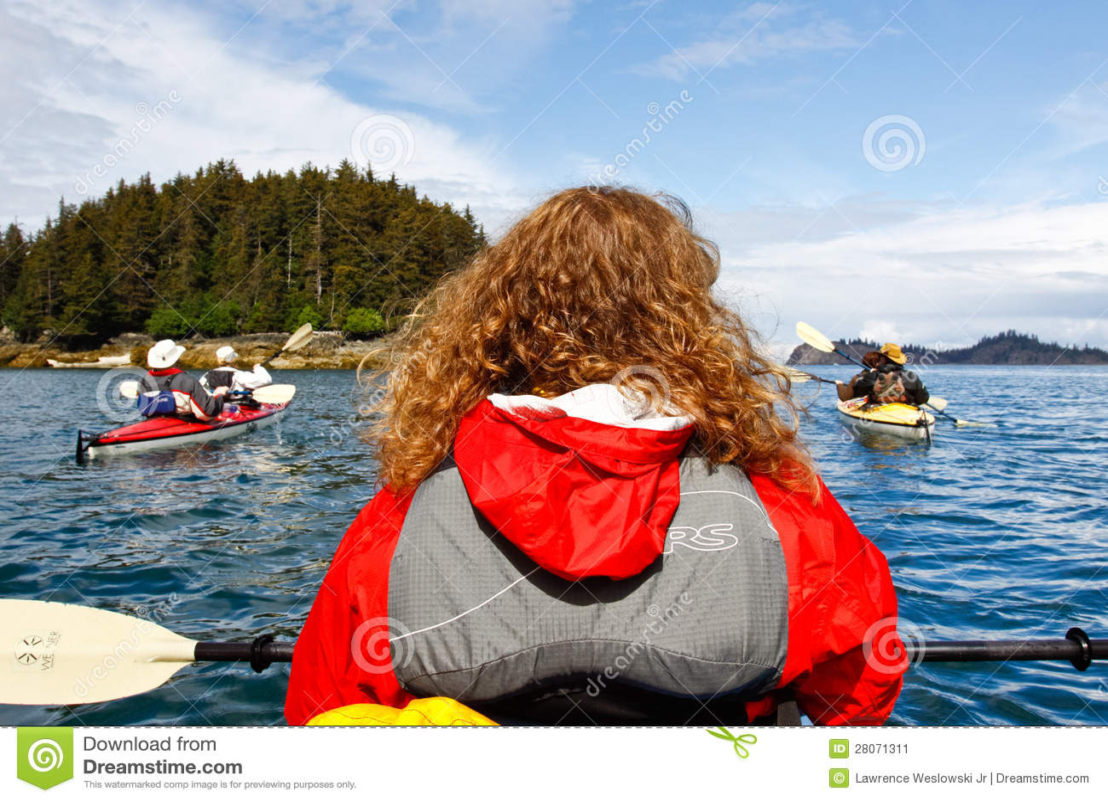 Kayaking Kachemak fjärd nära Homer Alaska