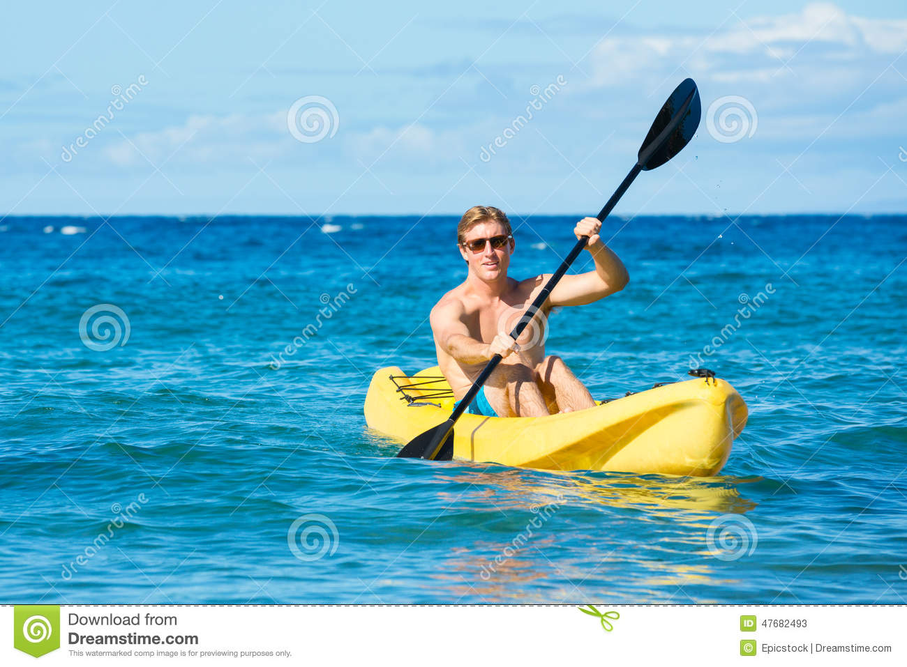 Kayaking stock image  Image of hawaii, funny, active - 47682493